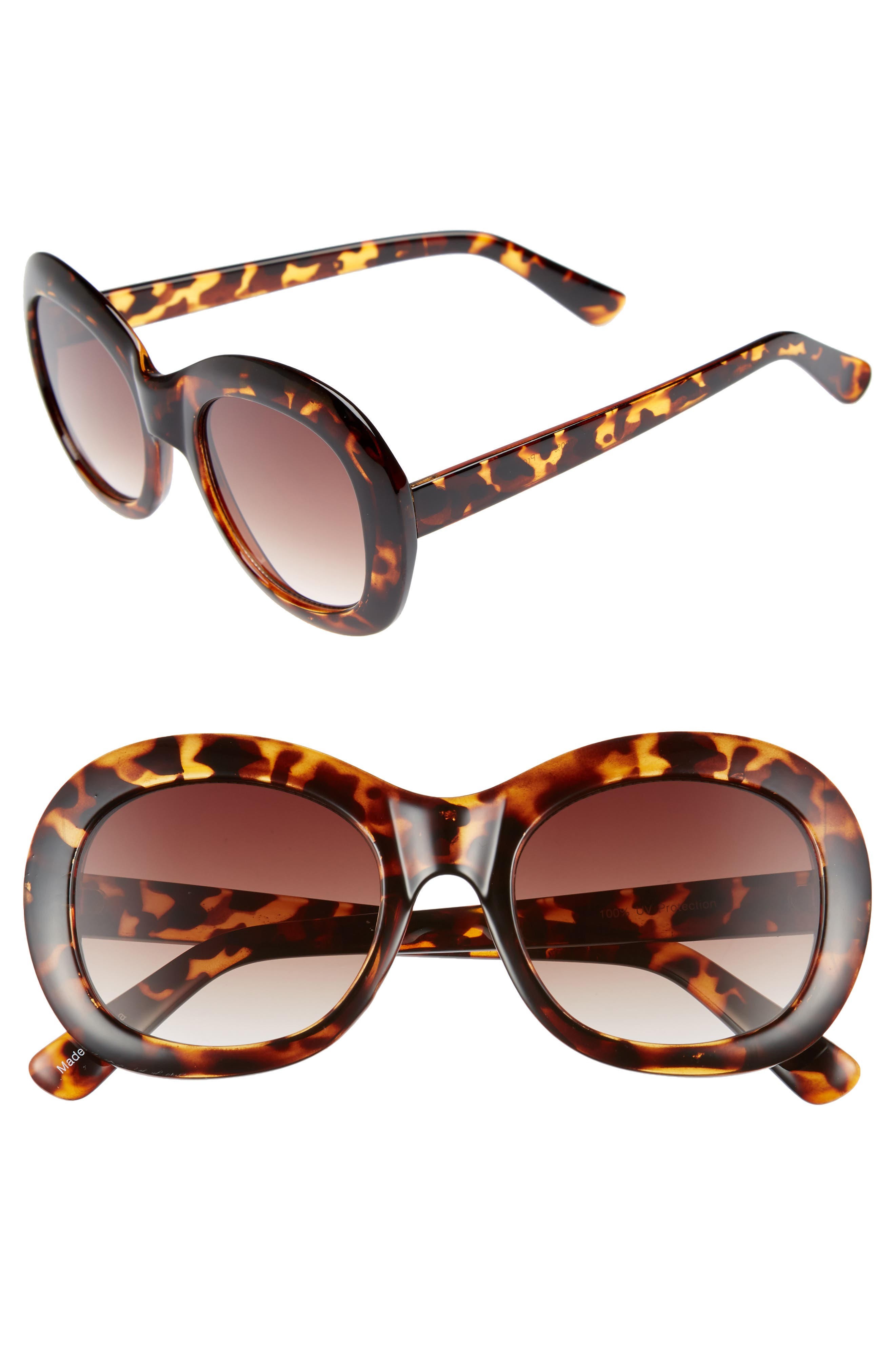 60mm Small Oval Sunglasses,                         Main,                         color, 200