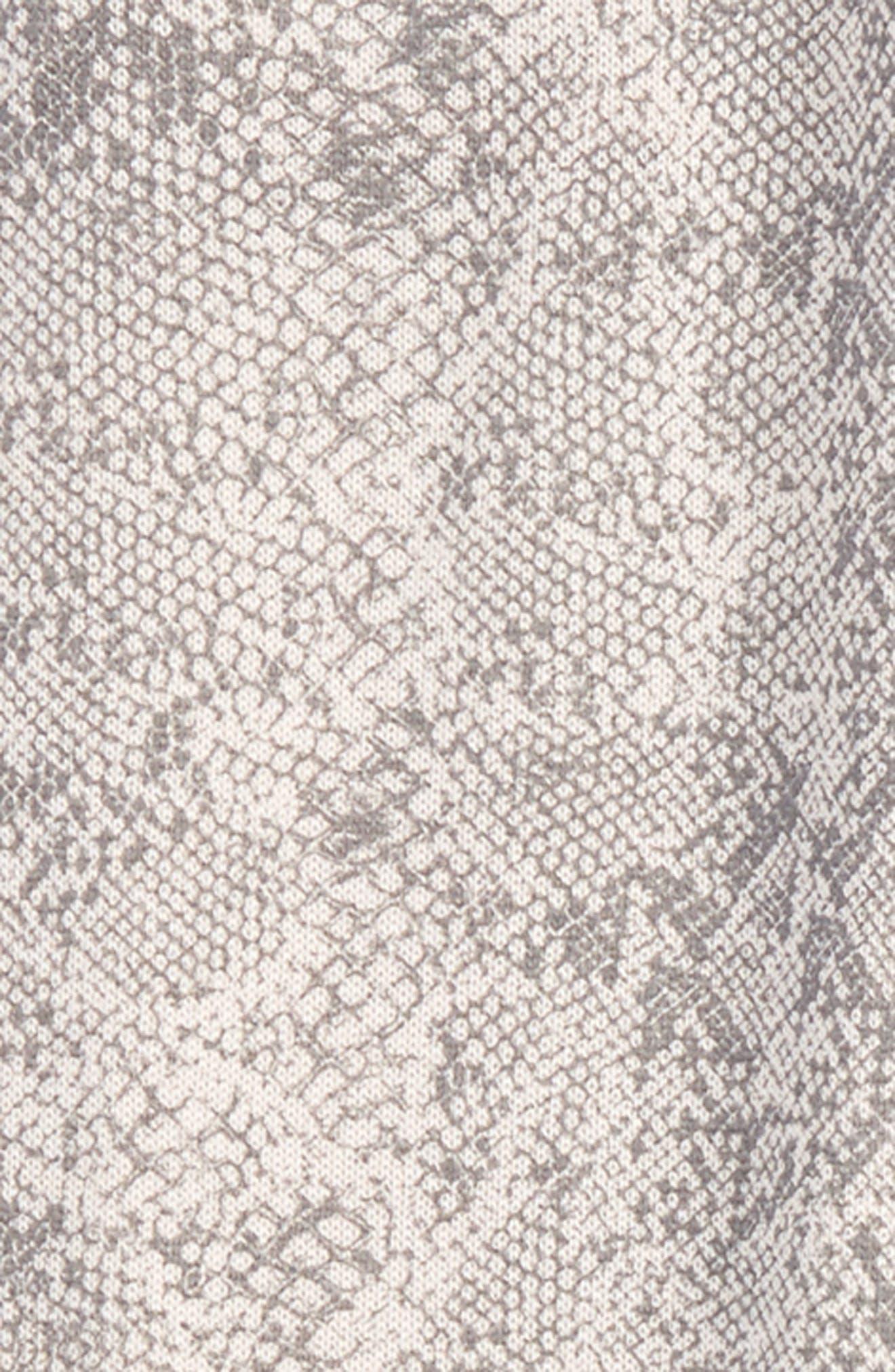Python Print Knit Jogger Pants,                             Alternate thumbnail 2, color,