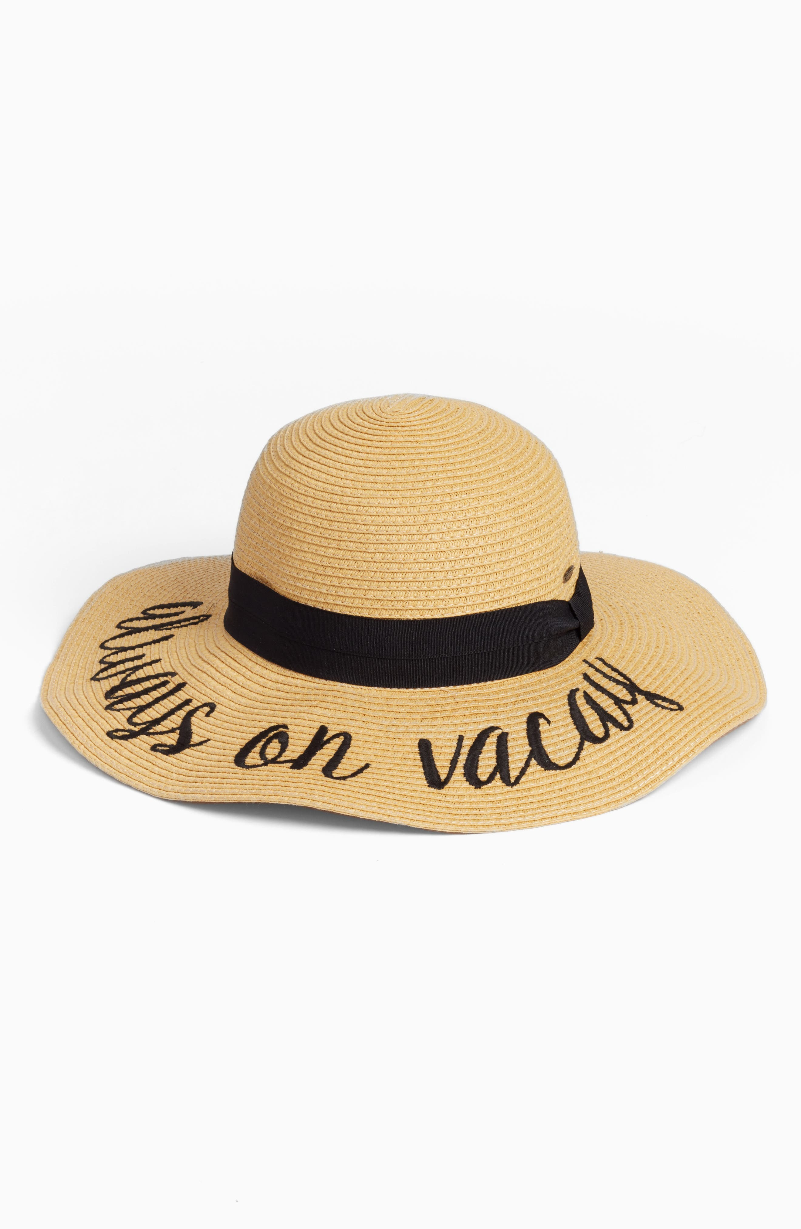 Straw Hat,                         Main,                         color, 250
