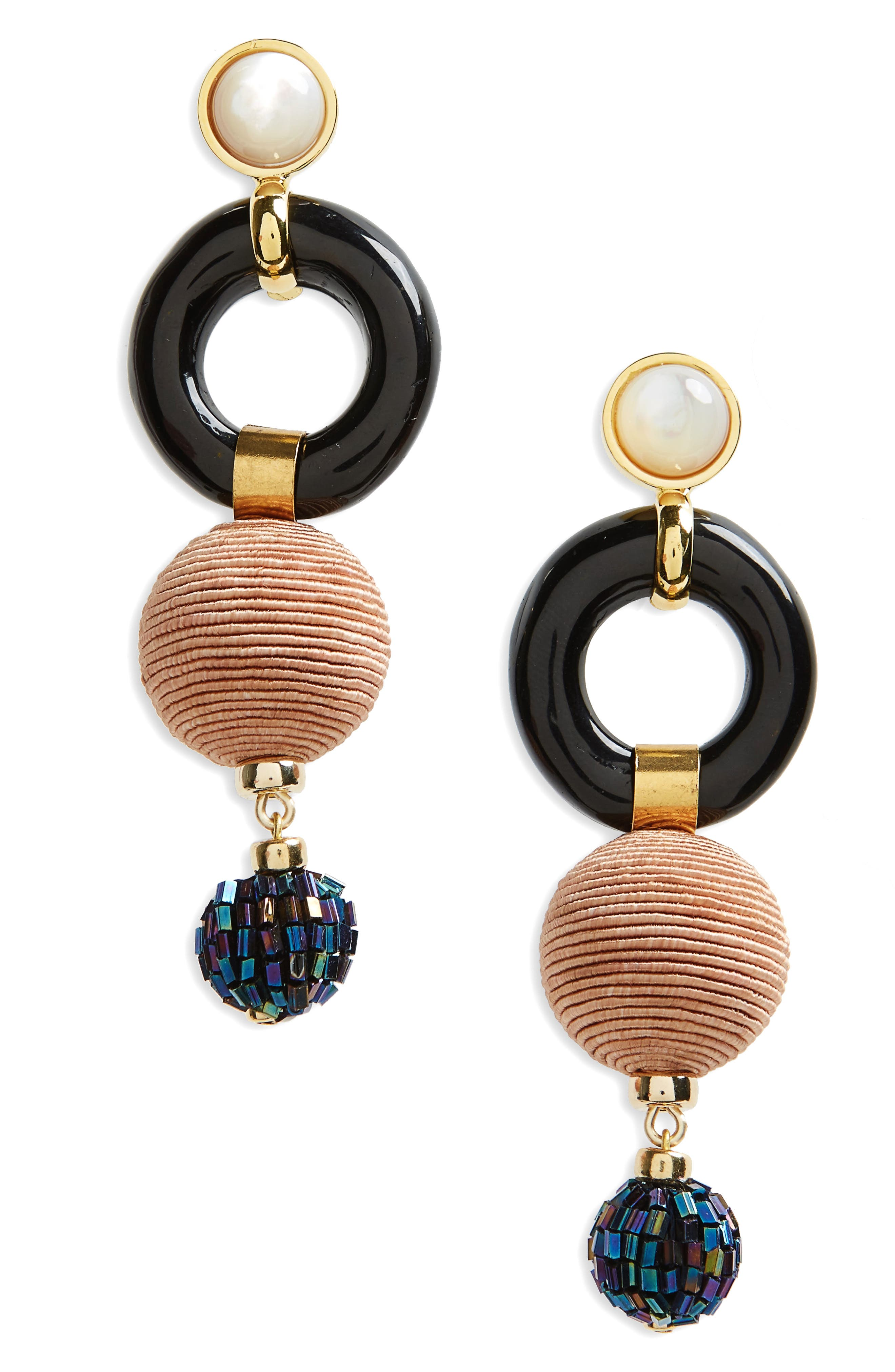Loop Chain Earrings,                             Main thumbnail 1, color,                             001