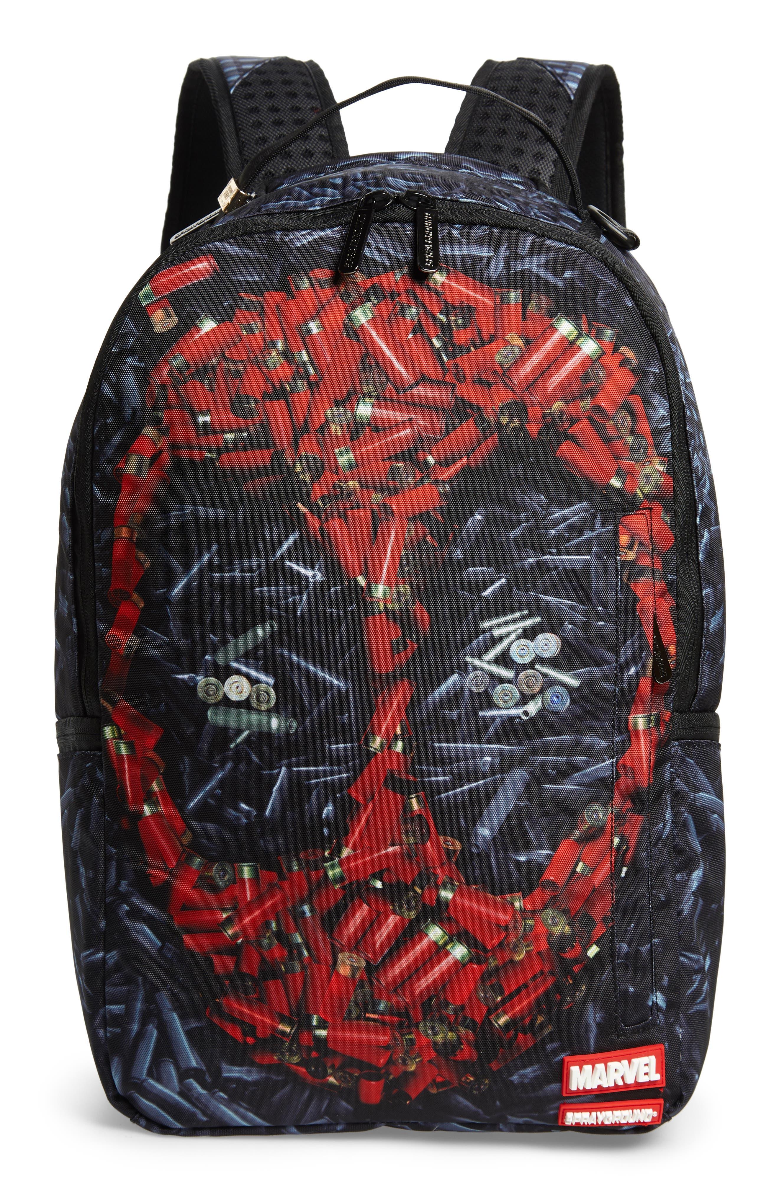 Deadpool Bullets Backpack,                             Main thumbnail 1, color,                             001