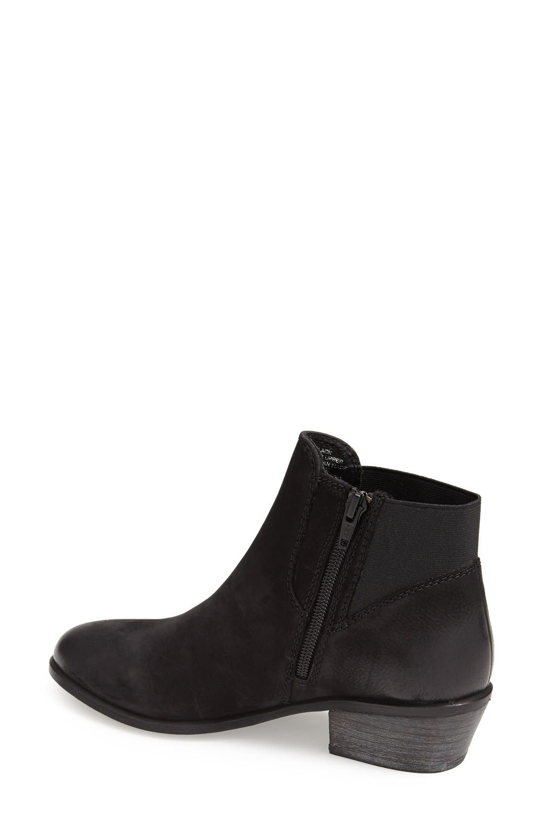 'Rozamare' Leather Ankle Bootie,                             Alternate thumbnail 2, color,                             001