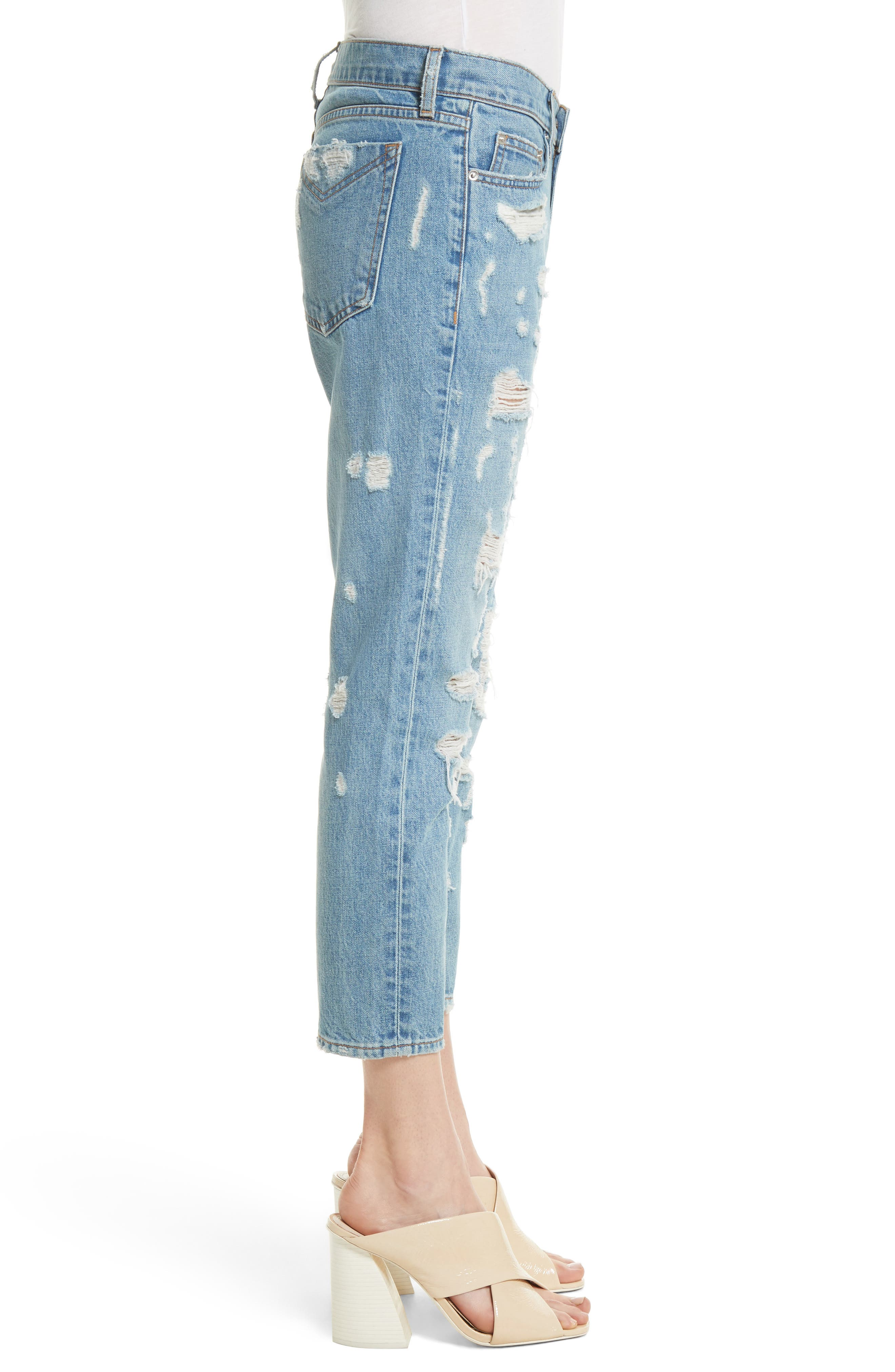 Mila Slim Girlfriend Jeans,                             Alternate thumbnail 3, color,                             450