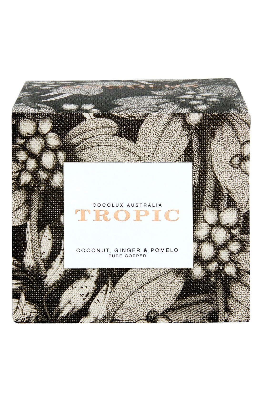 Coconut, Ginger & Pomelo Copper Candle,                             Alternate thumbnail 2, color,                             000