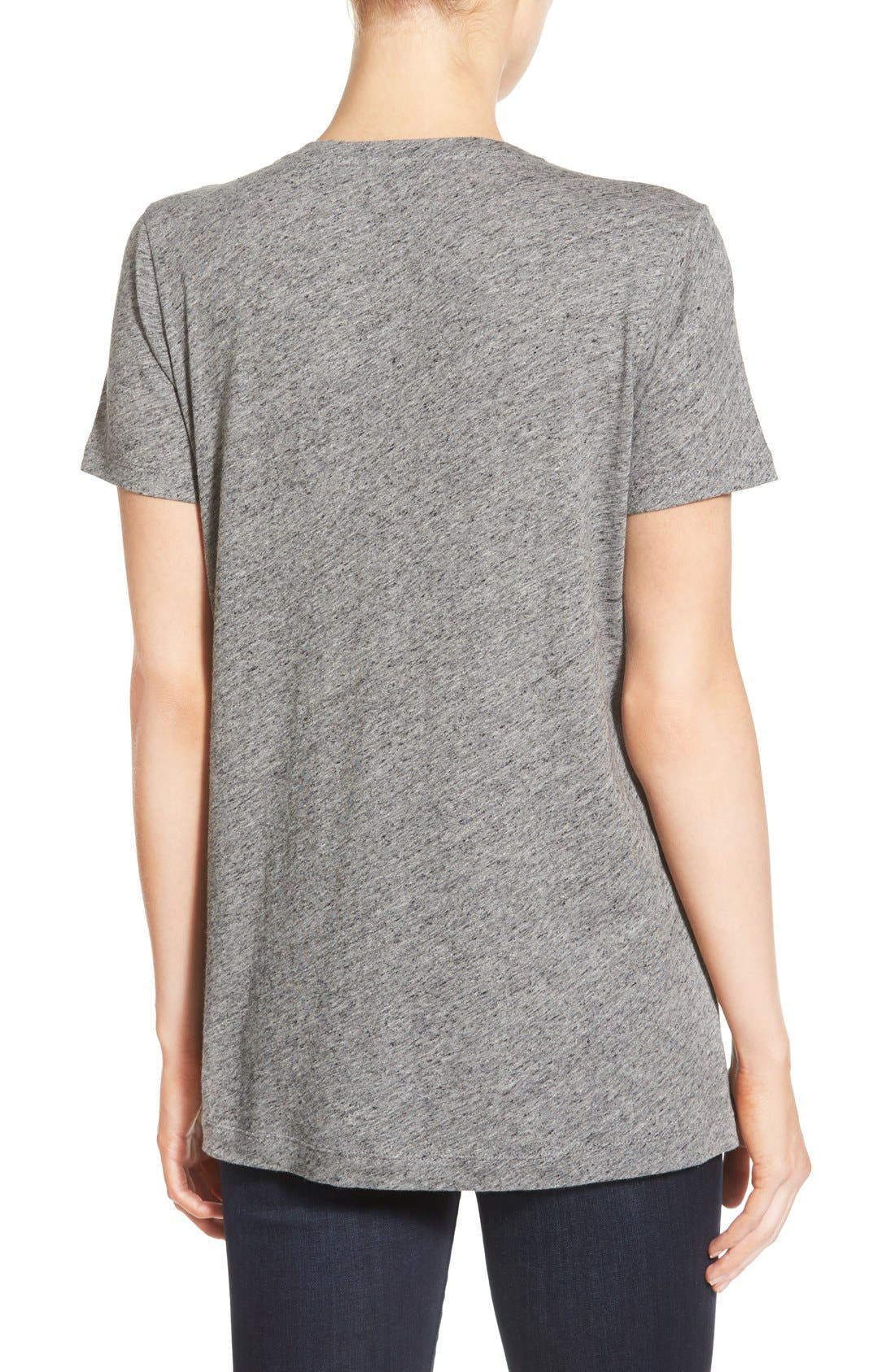 Whisper Cotton V-Neck Pocket Tee,                             Alternate thumbnail 242, color,