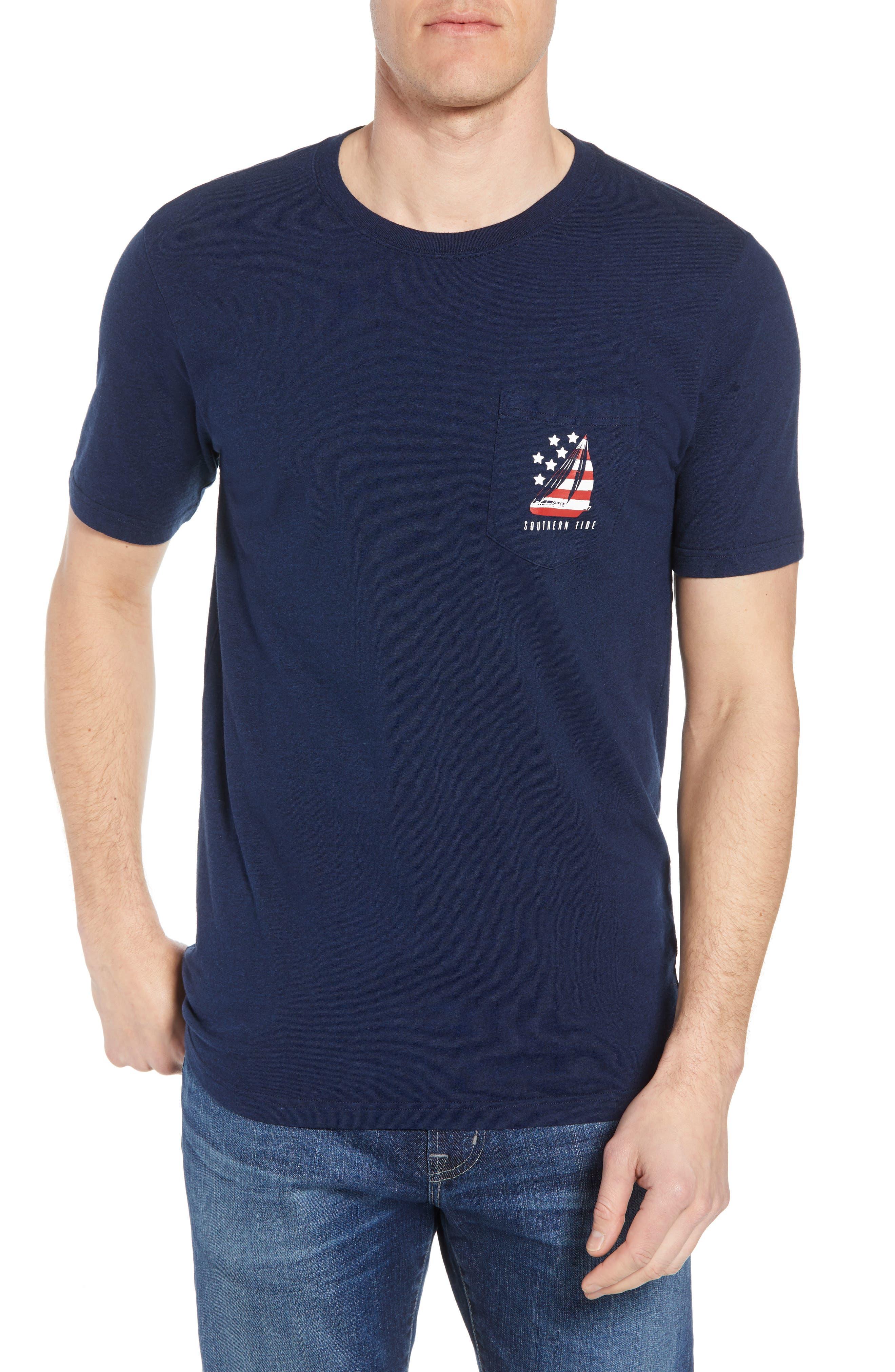 Patriotic Sail Regular Fit T-Shirt,                             Main thumbnail 1, color,