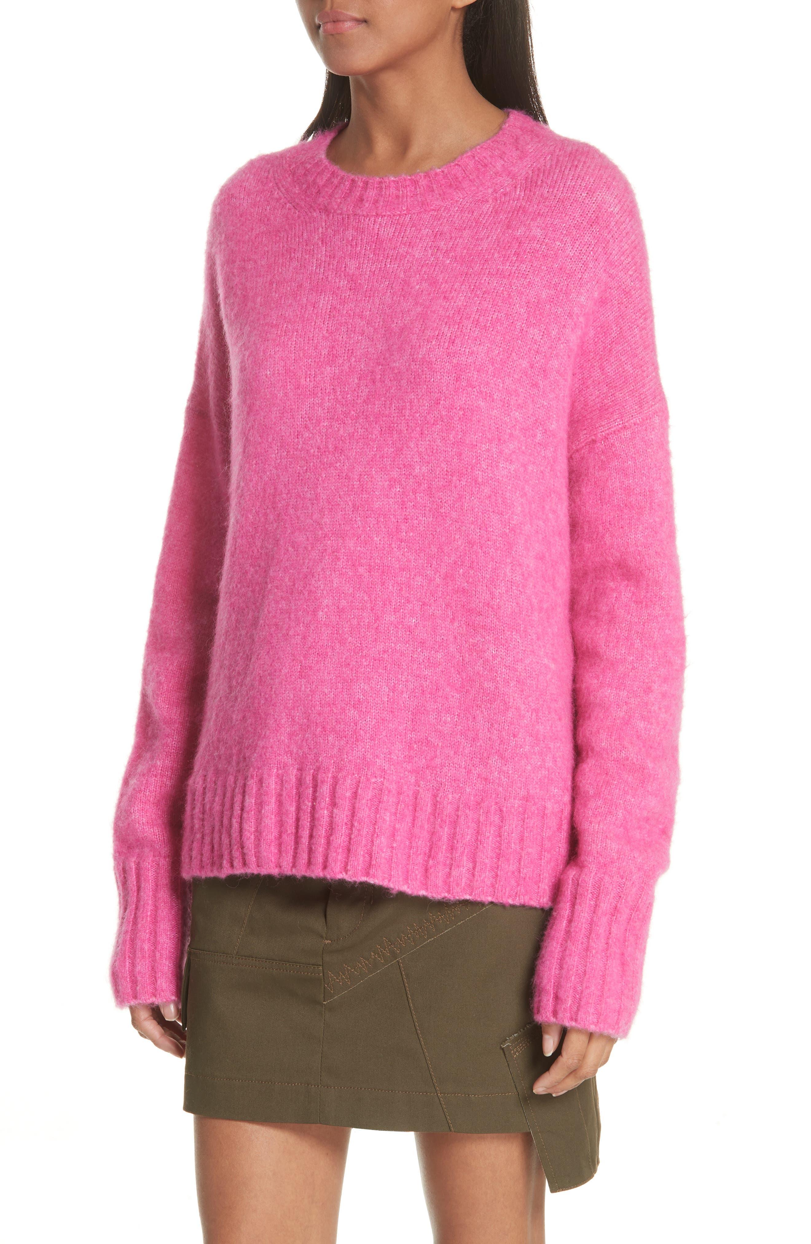 Wool & Alpaca Blend Sweater,                             Alternate thumbnail 4, color,                             653