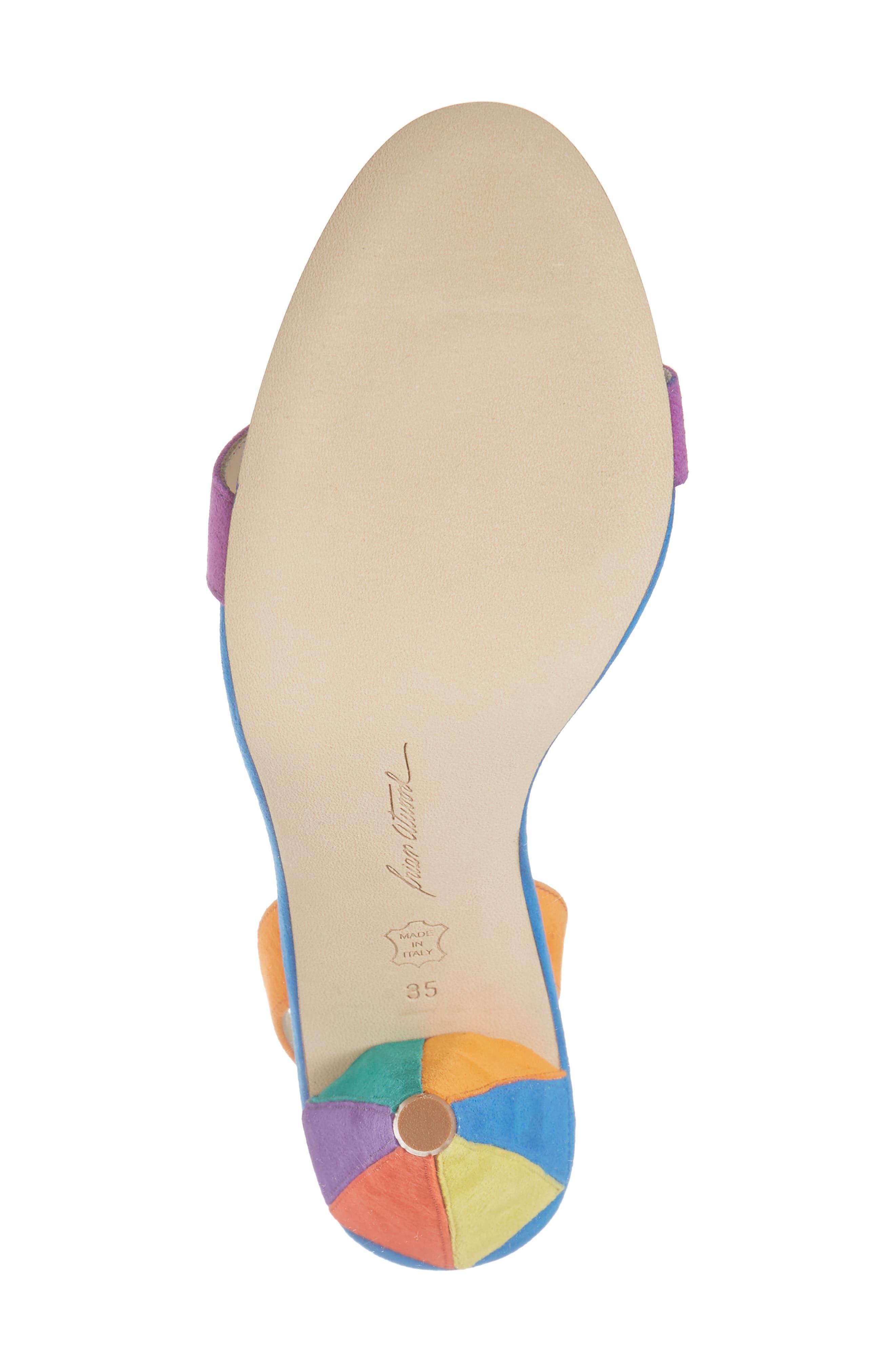 Susii Cone Heel Sandal,                             Alternate thumbnail 6, color,                             400