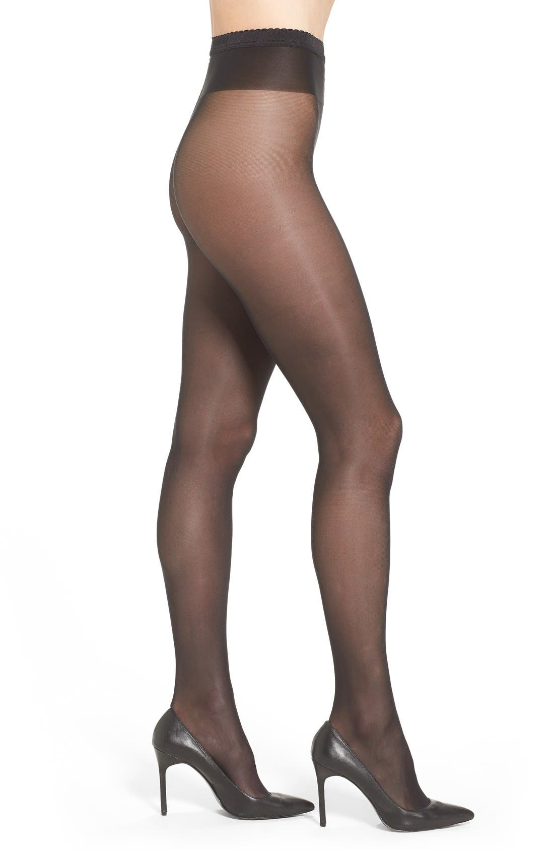 'Neon 40' Pantyhose,                             Main thumbnail 1, color,                             BLACK