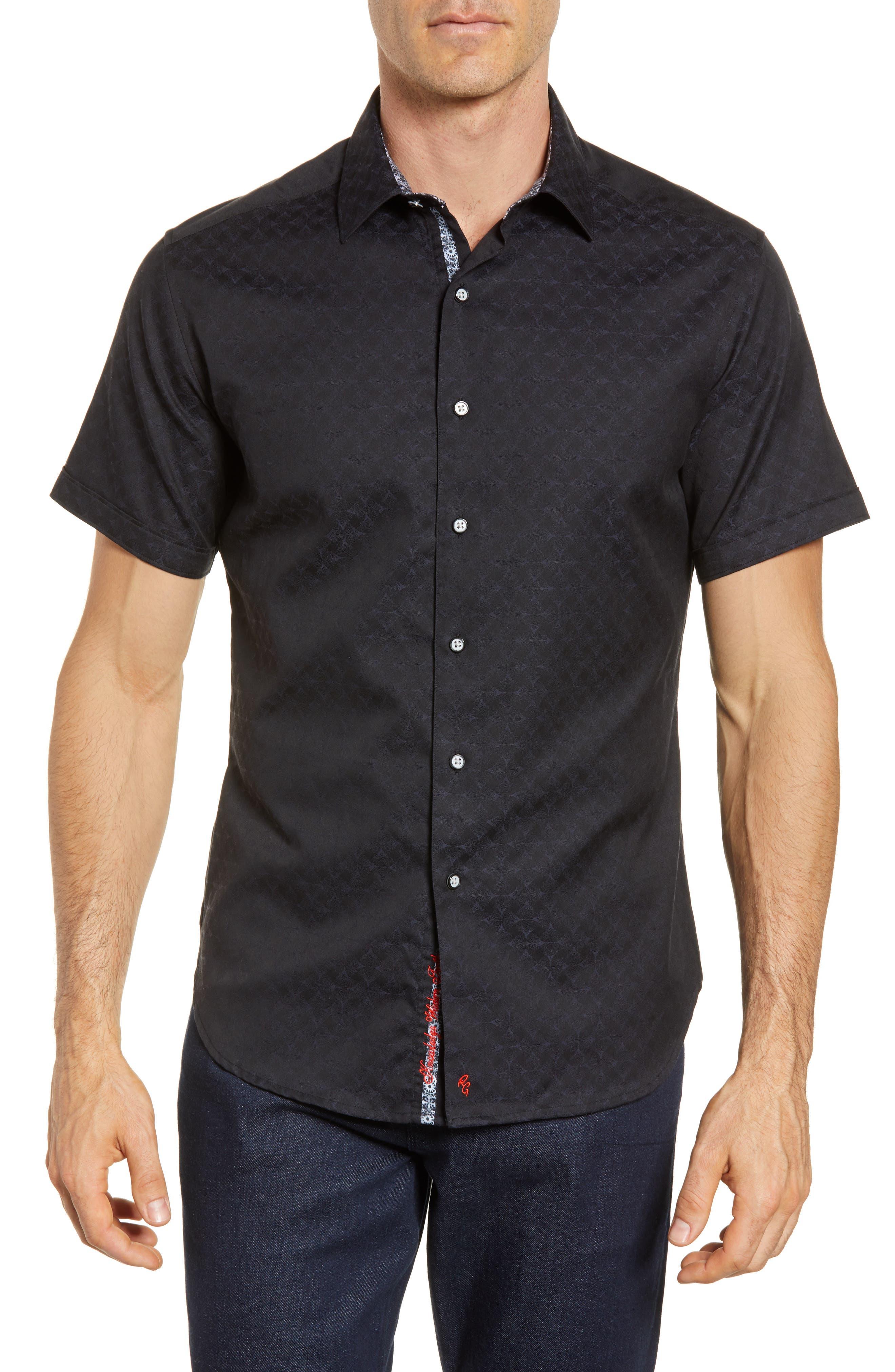 Diamante Classic Fit Sport Shirt,                         Main,                         color, BLACK