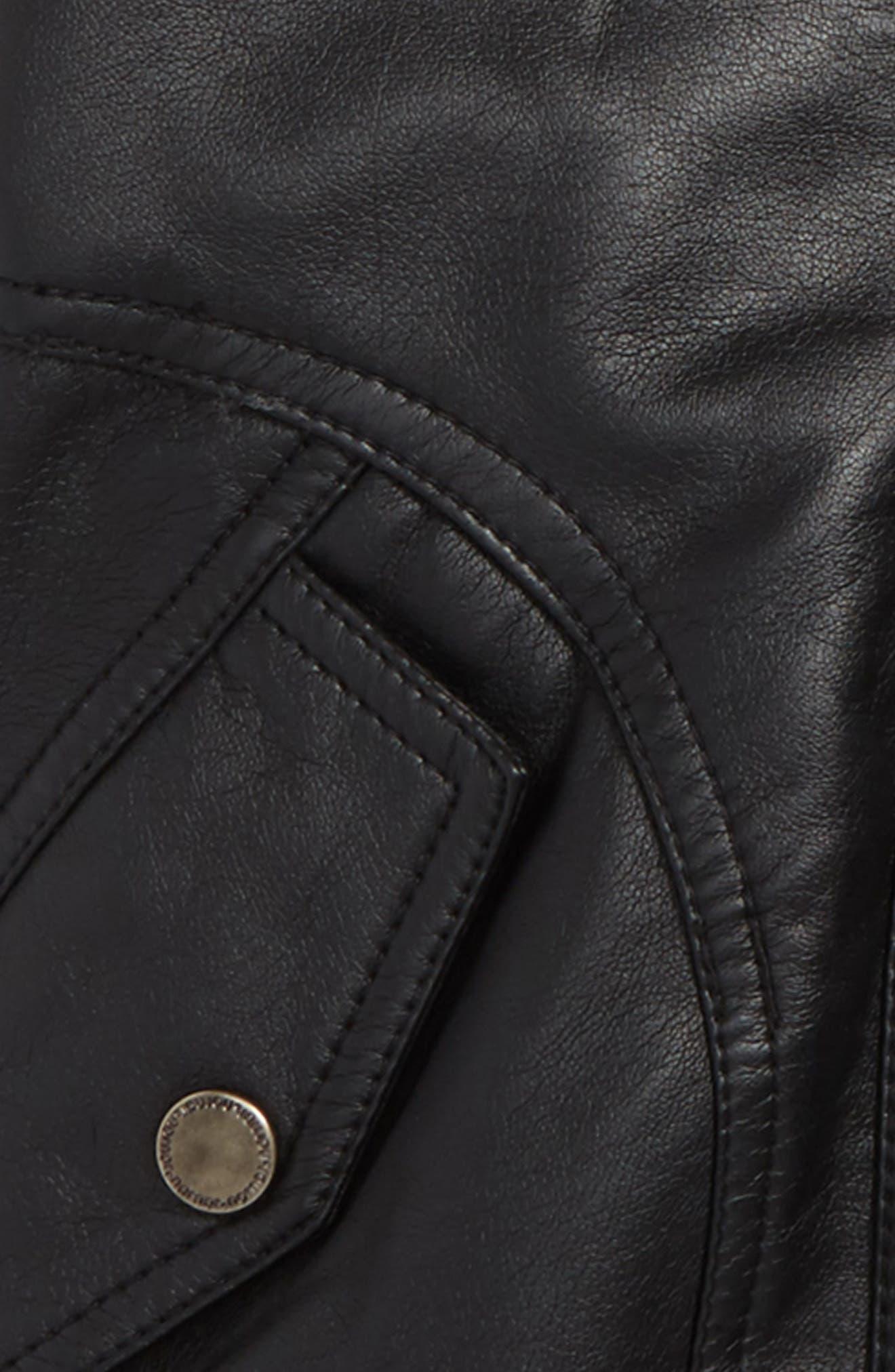 Mix Media Moto Jacket,                             Alternate thumbnail 2, color,                             001