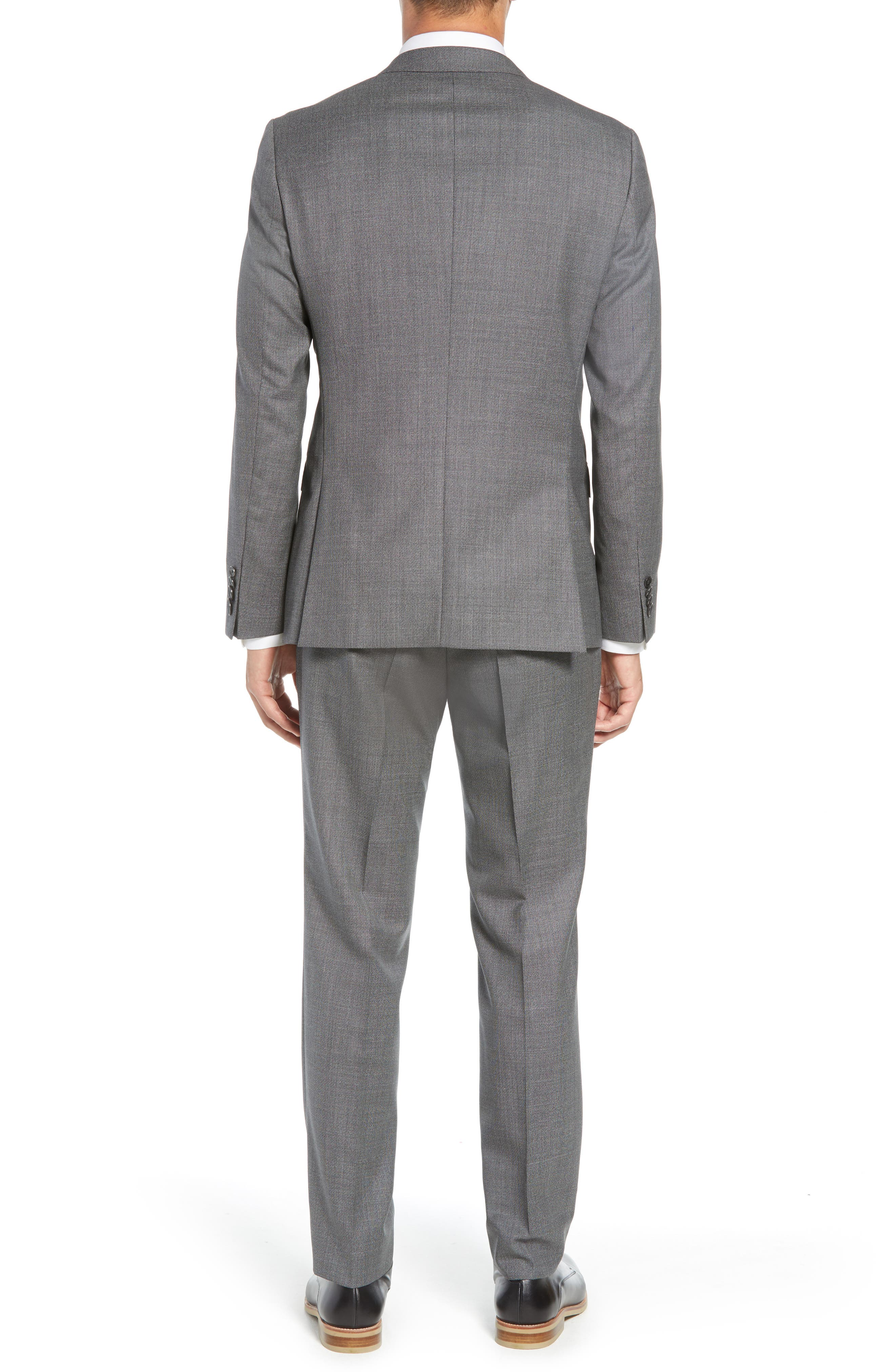 Novan/Ben Trim Fit Solid Wool Suit,                             Alternate thumbnail 2, color,                             GREY