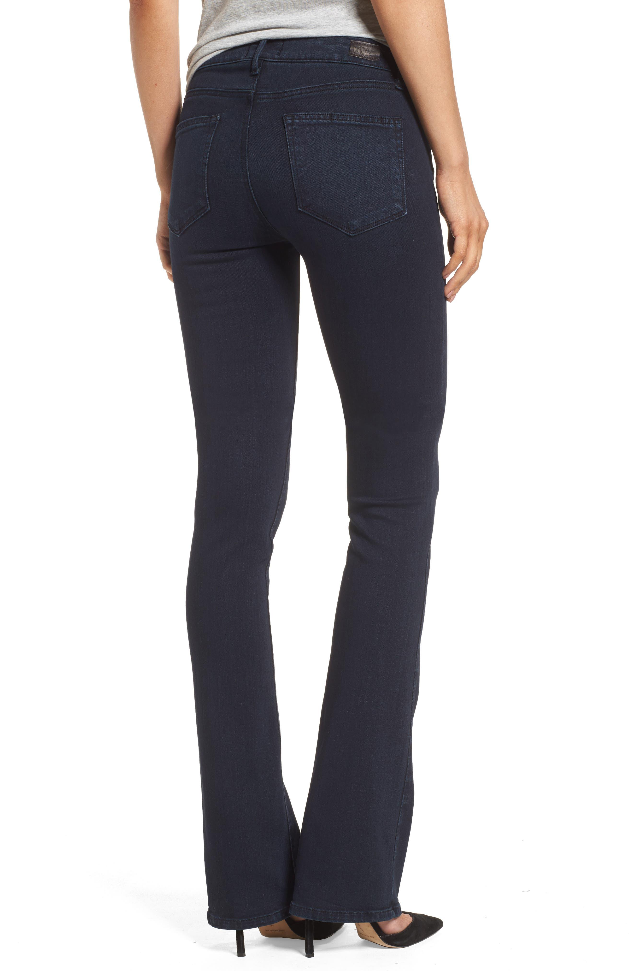Manhattan High Waist Bootcut Jeans,                             Alternate thumbnail 4, color,