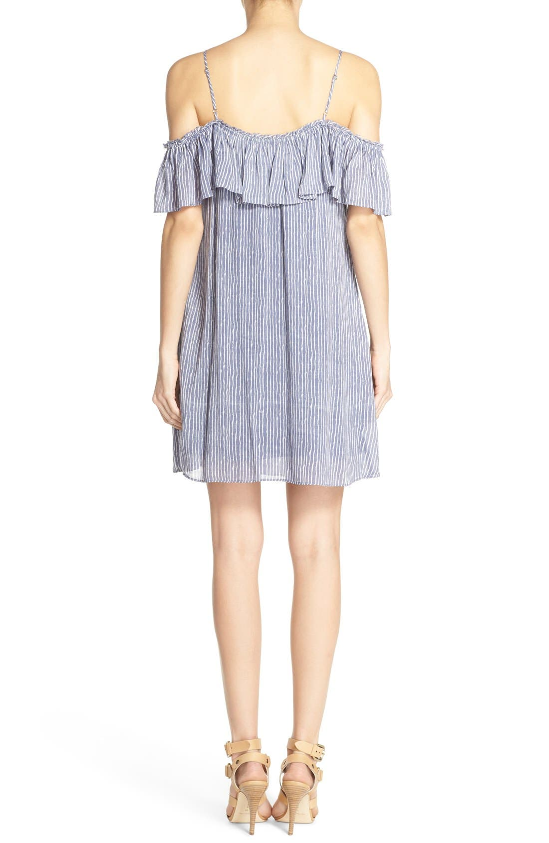 'Chantal' Off the Shoulder Woven Swing Dress,                             Alternate thumbnail 2, color,                             400