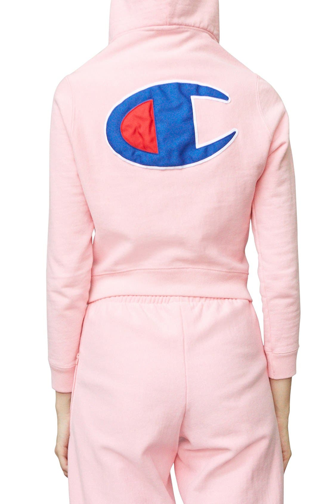 x Champion Fitted Hoodie,                             Alternate thumbnail 7, color,                             650