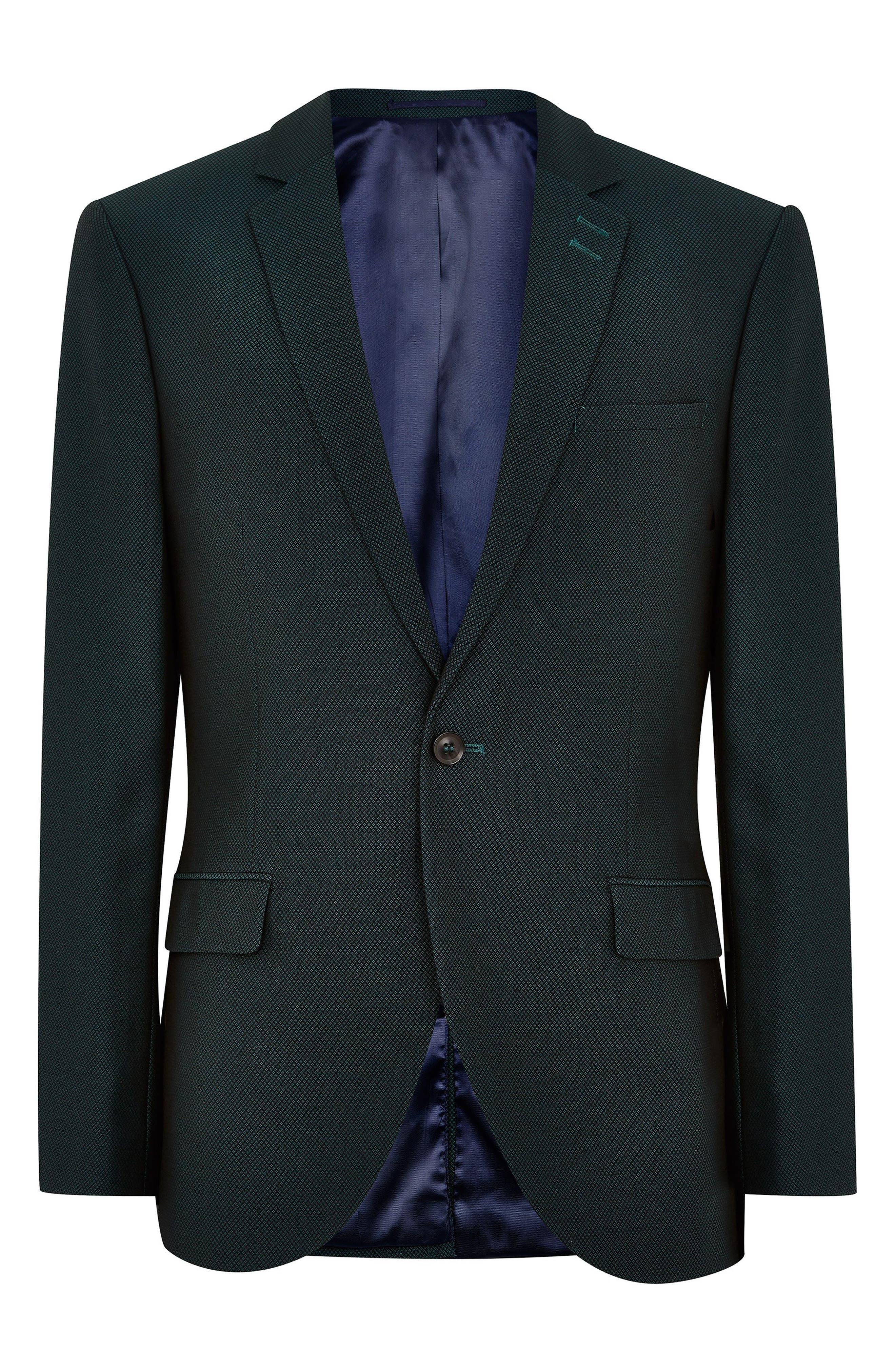 Banbury Slim Fit Suit Jacket,                             Alternate thumbnail 4, color,                             GREEN