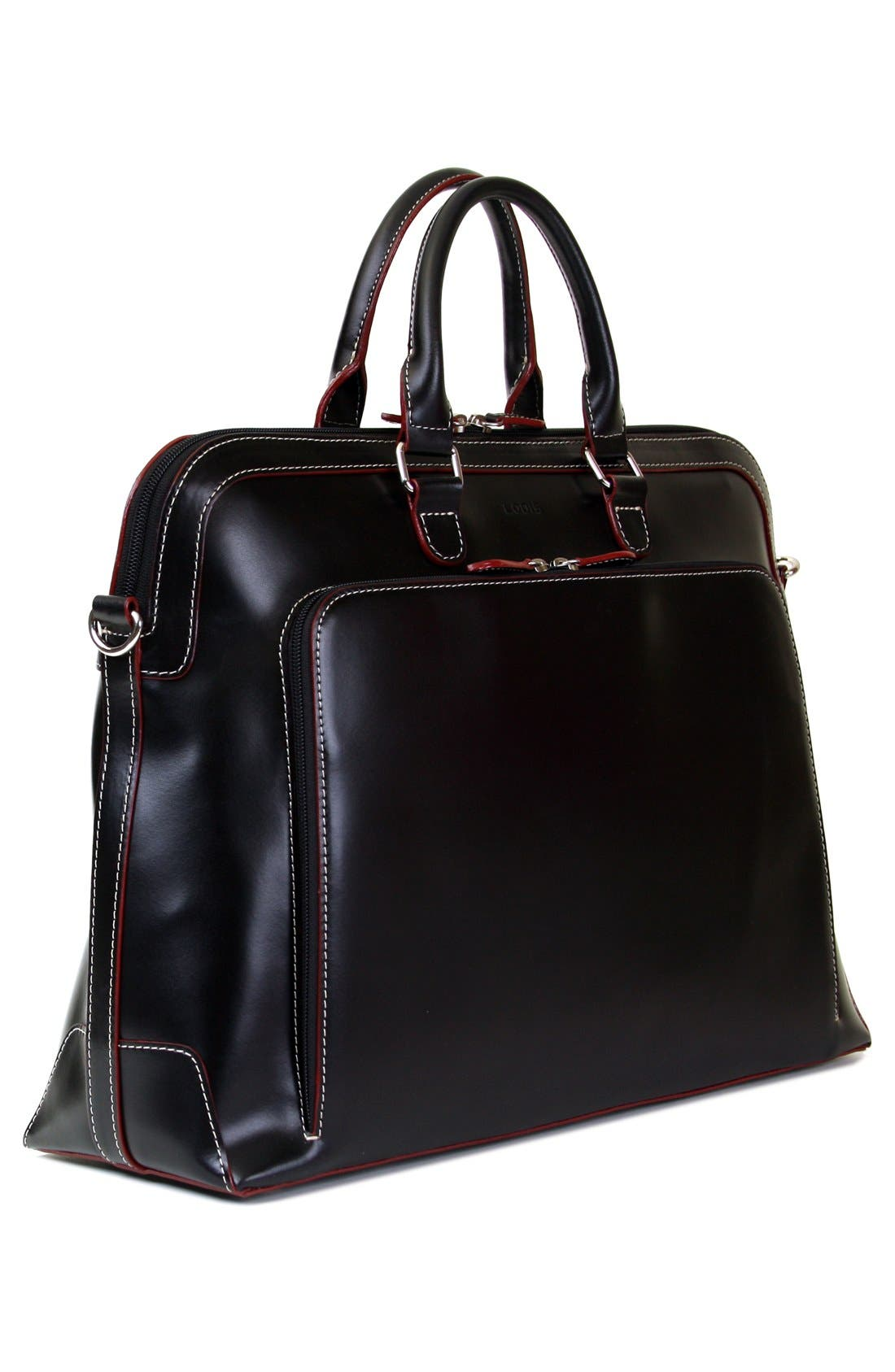 Lodis 'Audrey Brera' Leather Briefcase,                             Alternate thumbnail 6, color,                             001