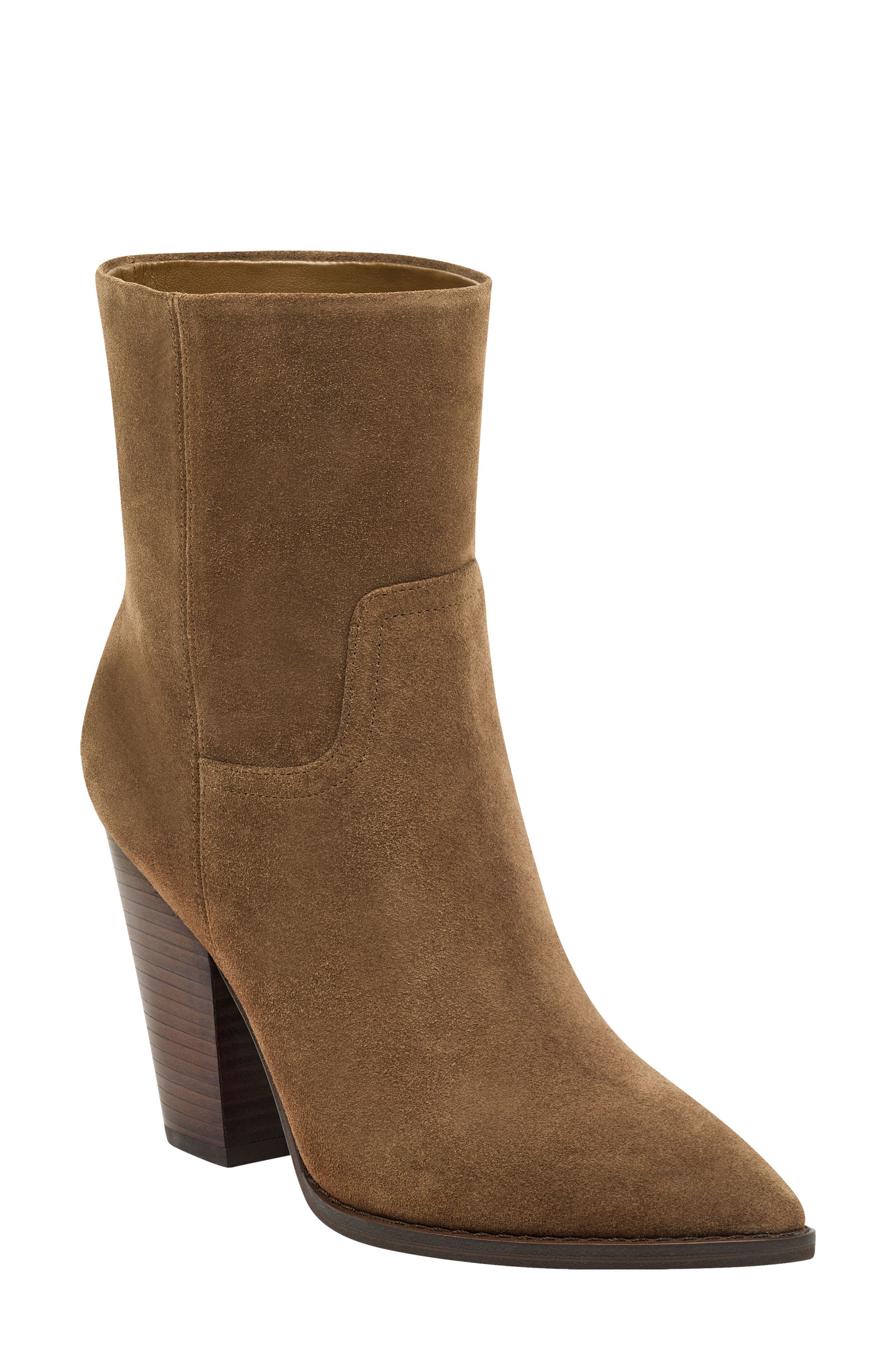 Marc Fisher Ltd Devin Pointy Toe Bootie- Brown