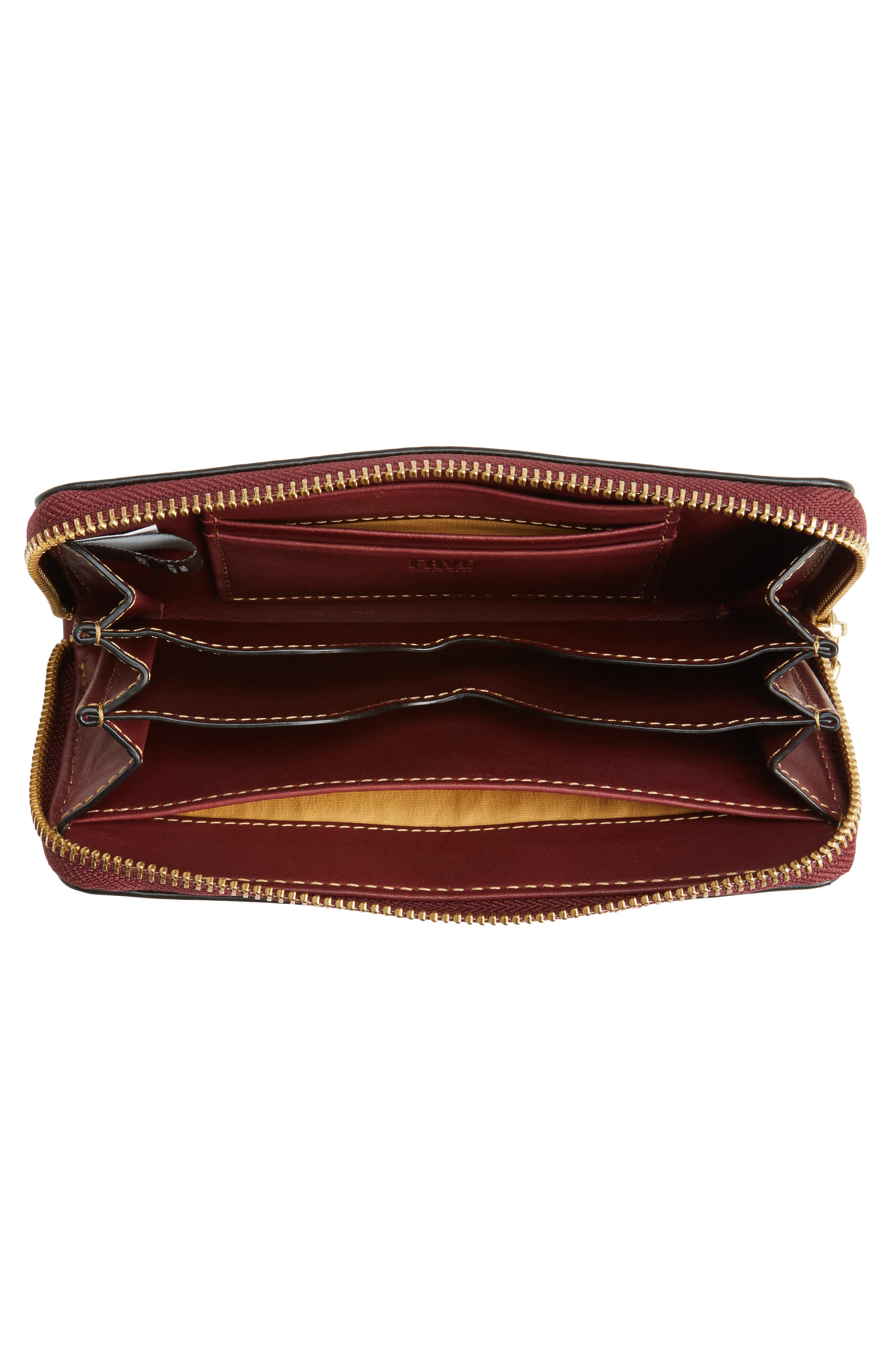 Ilana Harness Phone Leather Zip Wallet,                             Alternate thumbnail 8, color,