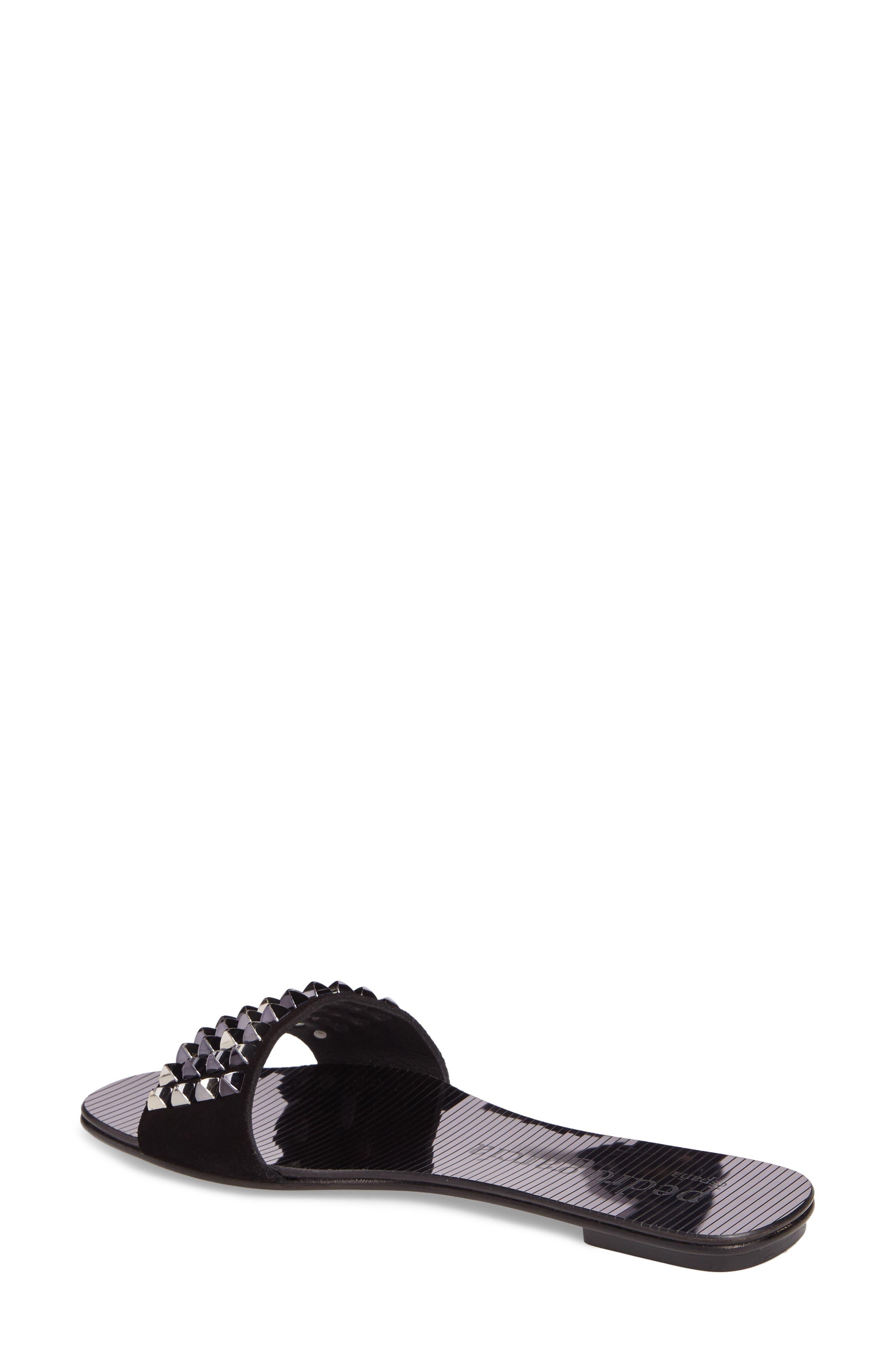 Edge Studded Slide Sandal,                             Alternate thumbnail 2, color,                             001