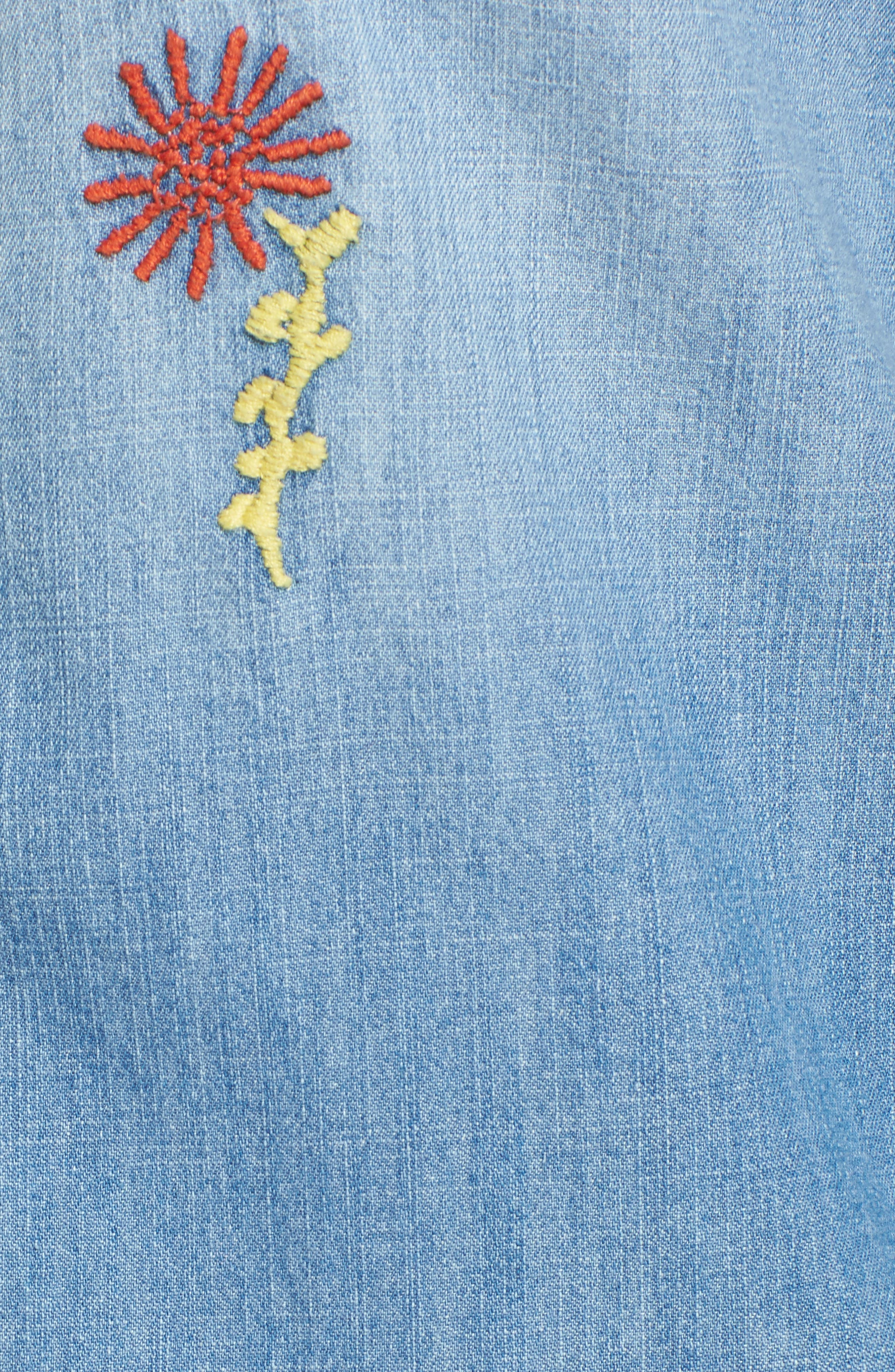 All My Ex's Embroidered Denim Shirt,                             Alternate thumbnail 6, color,                             400