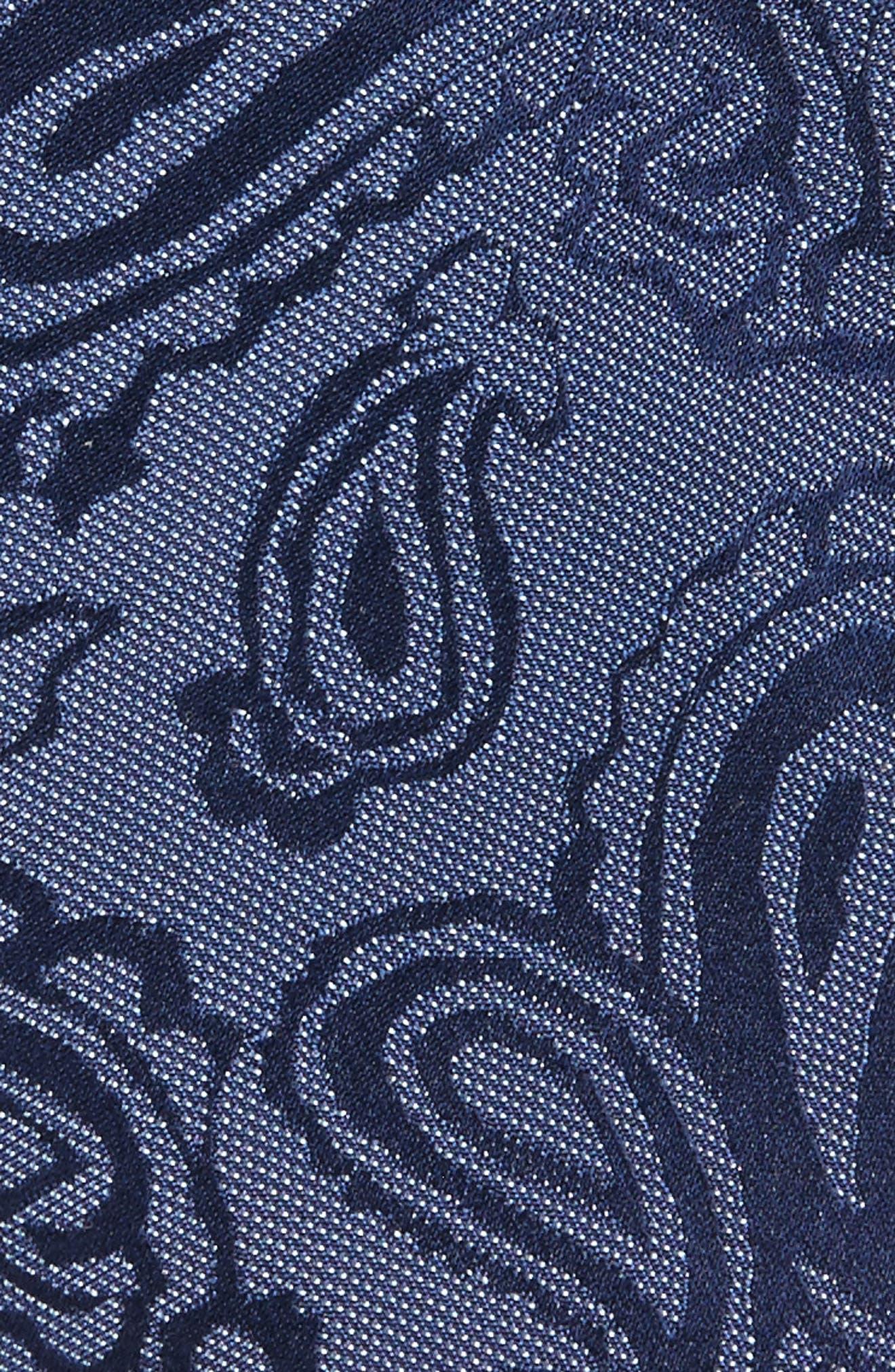 Paisley Silk Skinny Tie,                             Alternate thumbnail 8, color,