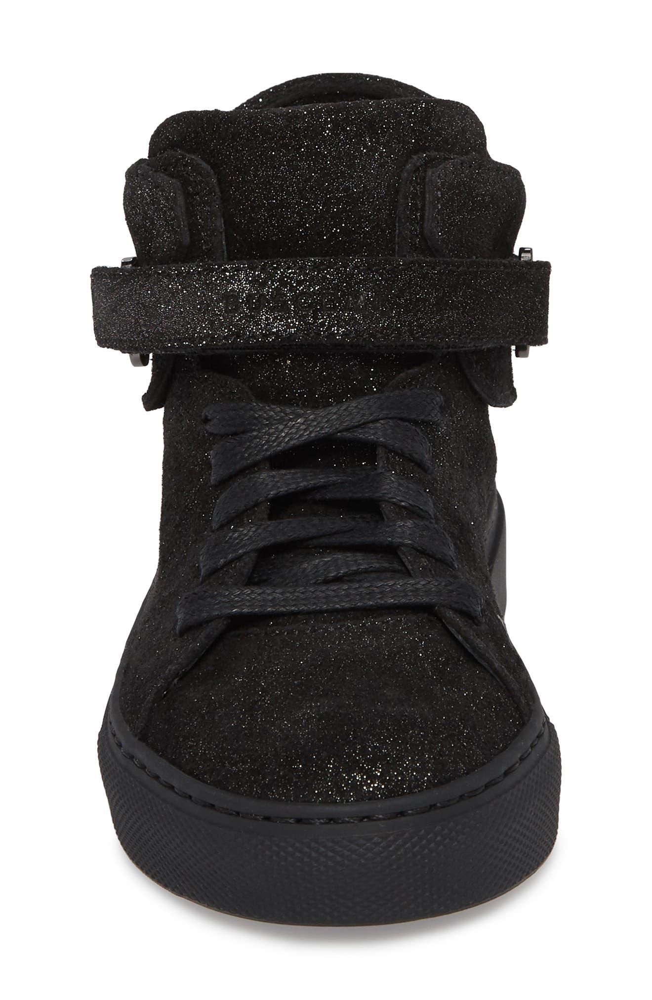 BUSCEMI,                             Gleam High Top Sneaker,                             Alternate thumbnail 4, color,                             001