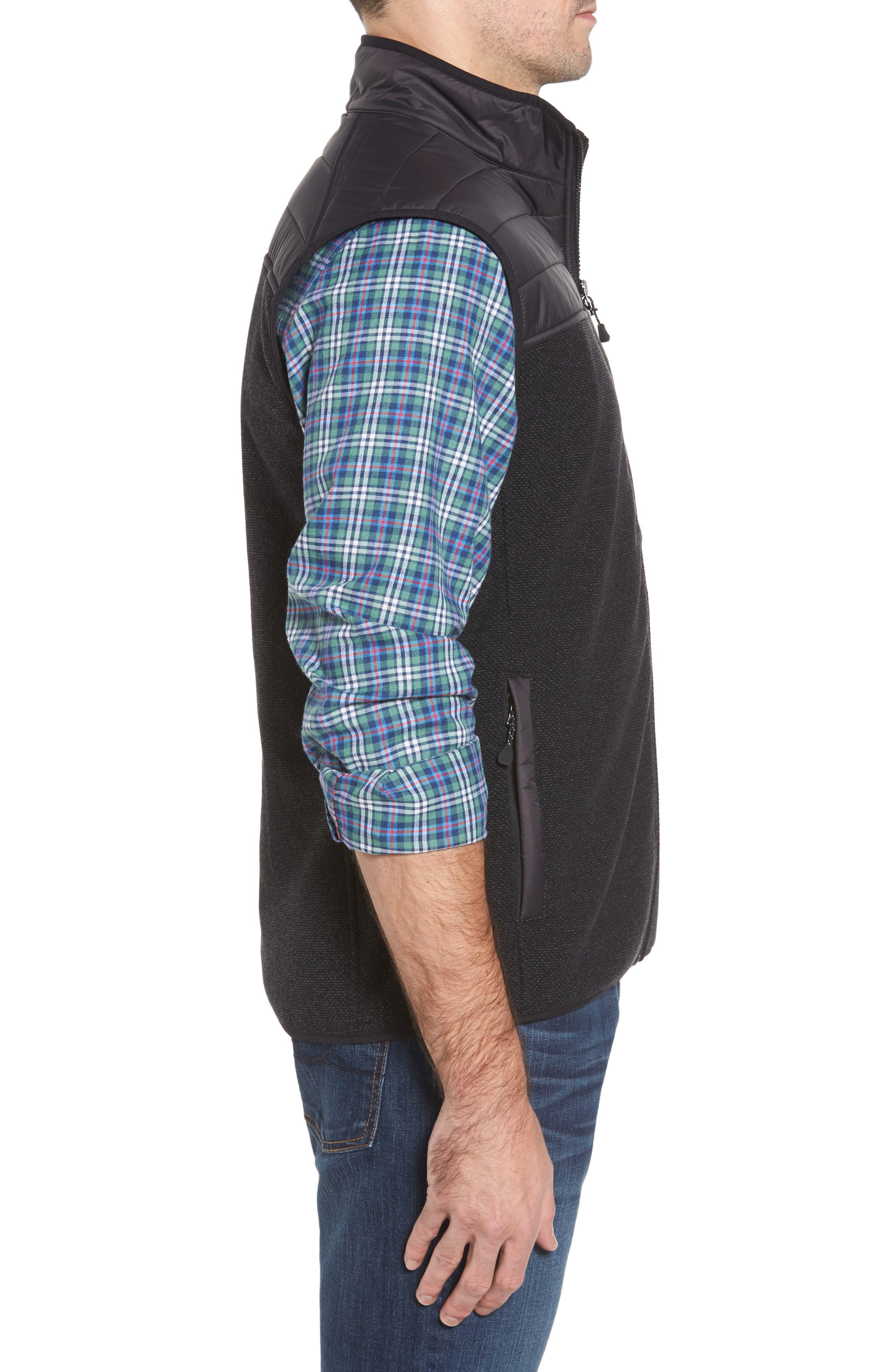 Quilted Yoke Fleece Vest,                             Alternate thumbnail 3, color,