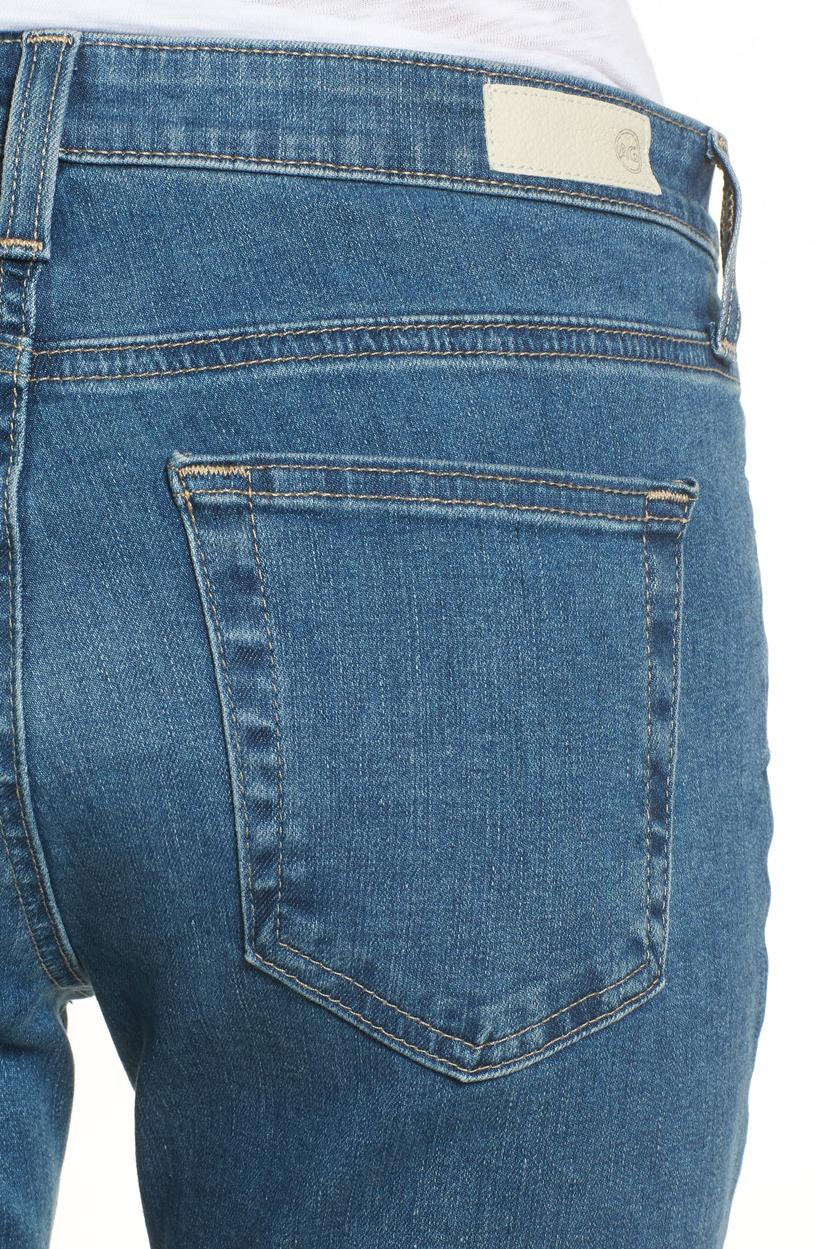 Jodi High Waist Crop Jeans,                             Alternate thumbnail 4, color,                             414