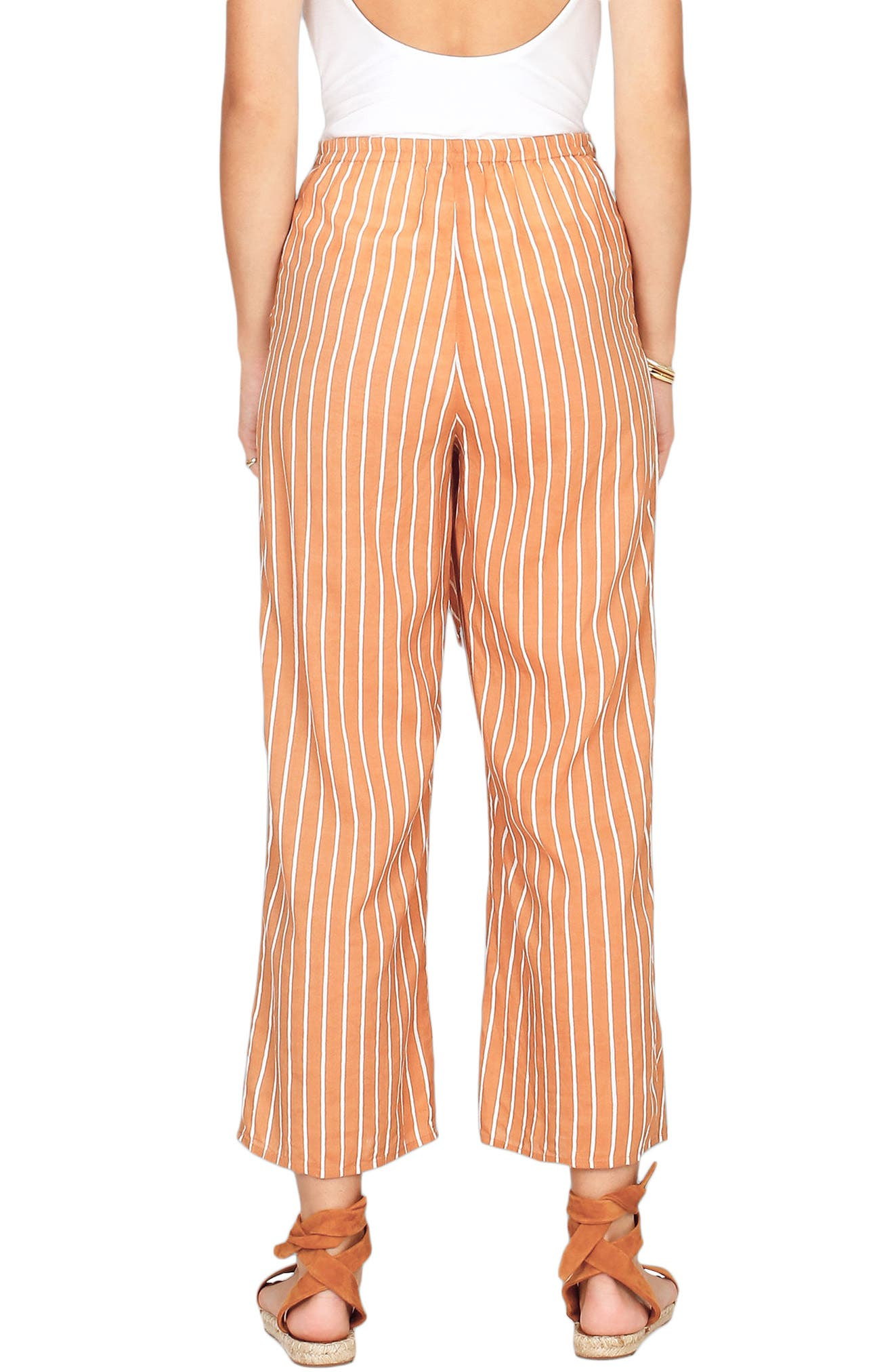 Blurred Lines Knot Front Pants,                             Alternate thumbnail 4, color,