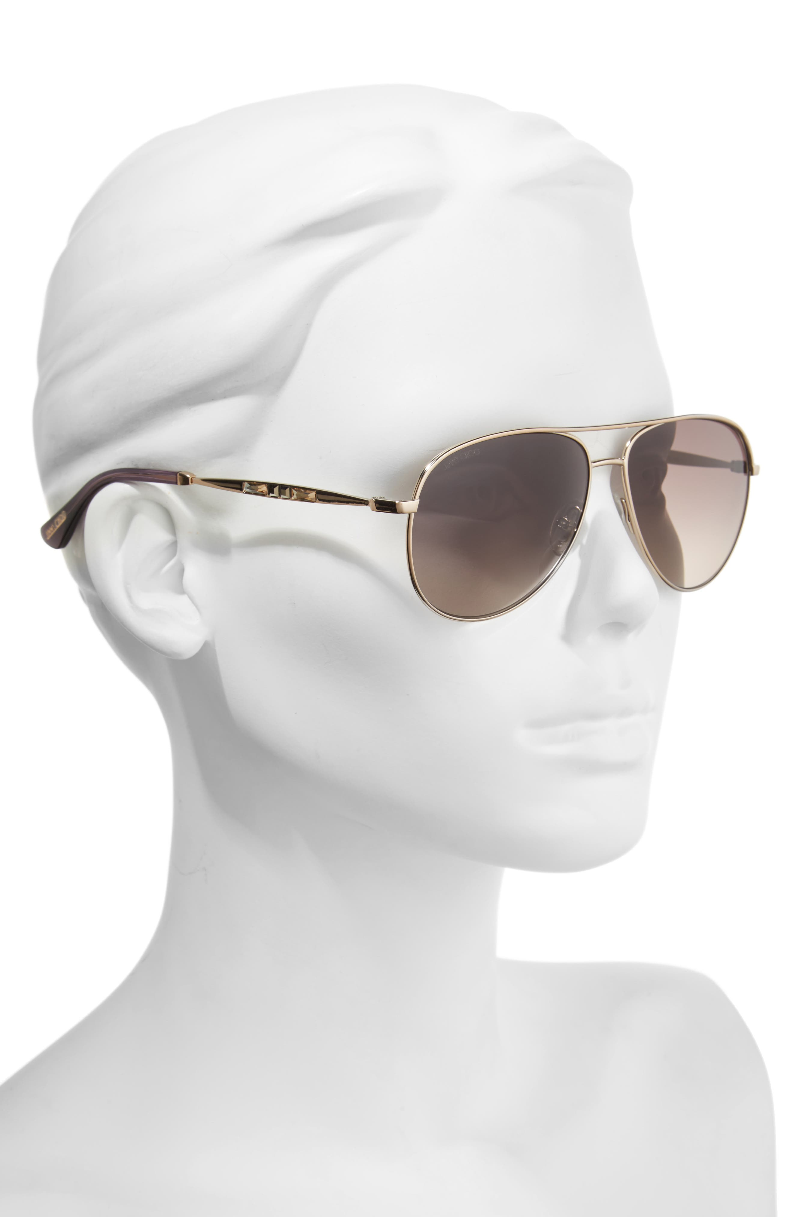Jewlys 58mm Aviator Sunglasses,                             Alternate thumbnail 2, color,                             220
