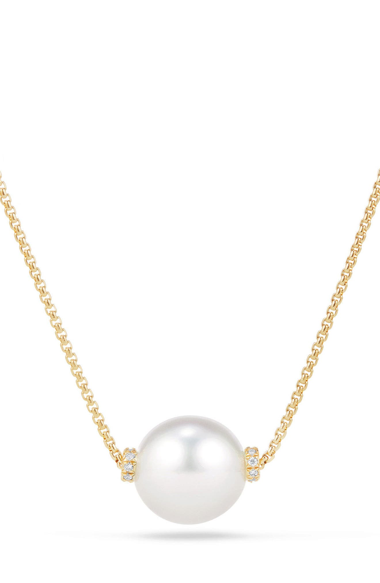 Solari Pearl Station Necklace,                             Main thumbnail 1, color,                             YELLOW GOLD/ SOUTH SEA WHITE