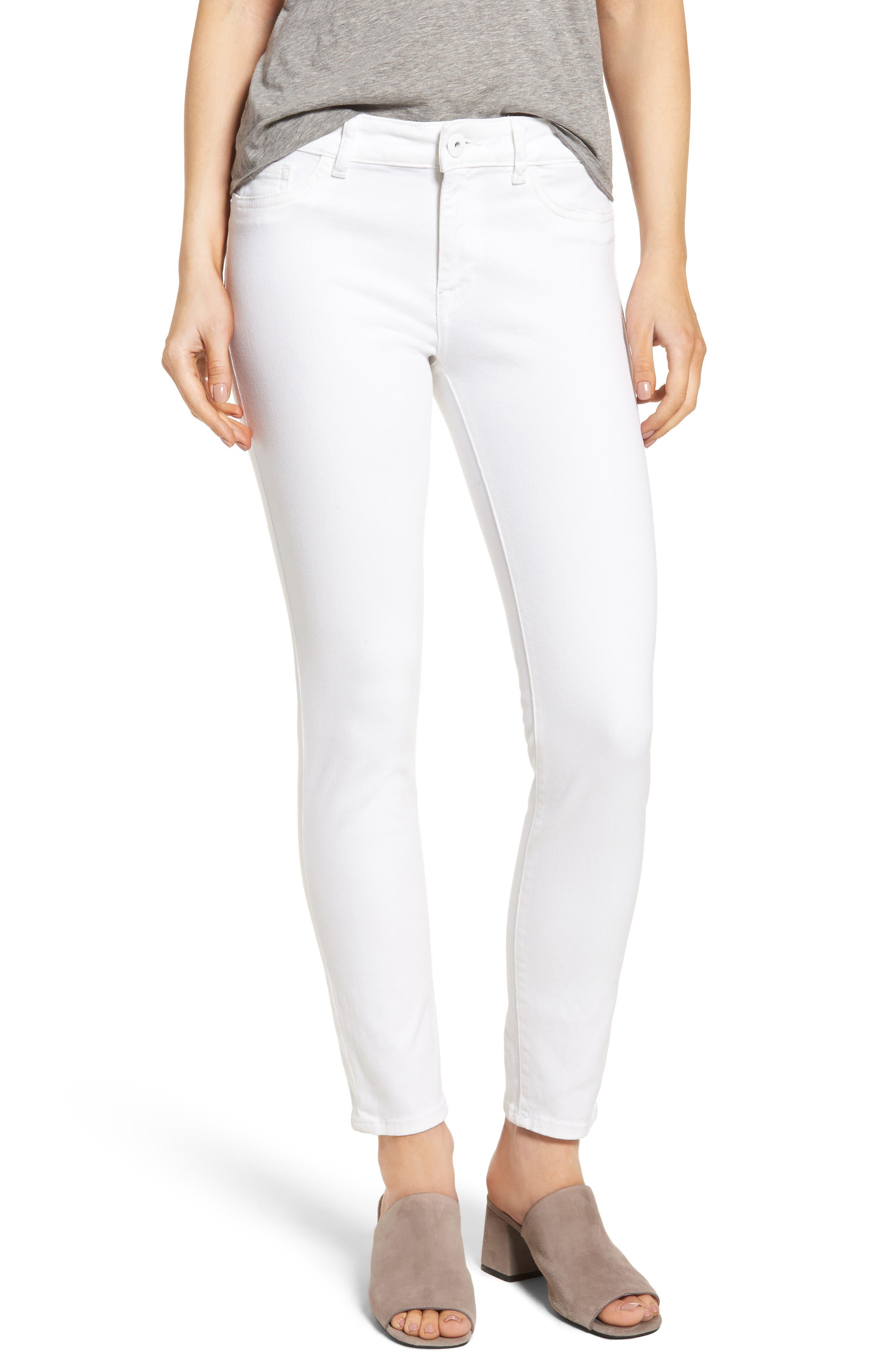 Margaux Instasculpt Ankle Skinny Jeans,                             Main thumbnail 1, color,                             PORCELAIN