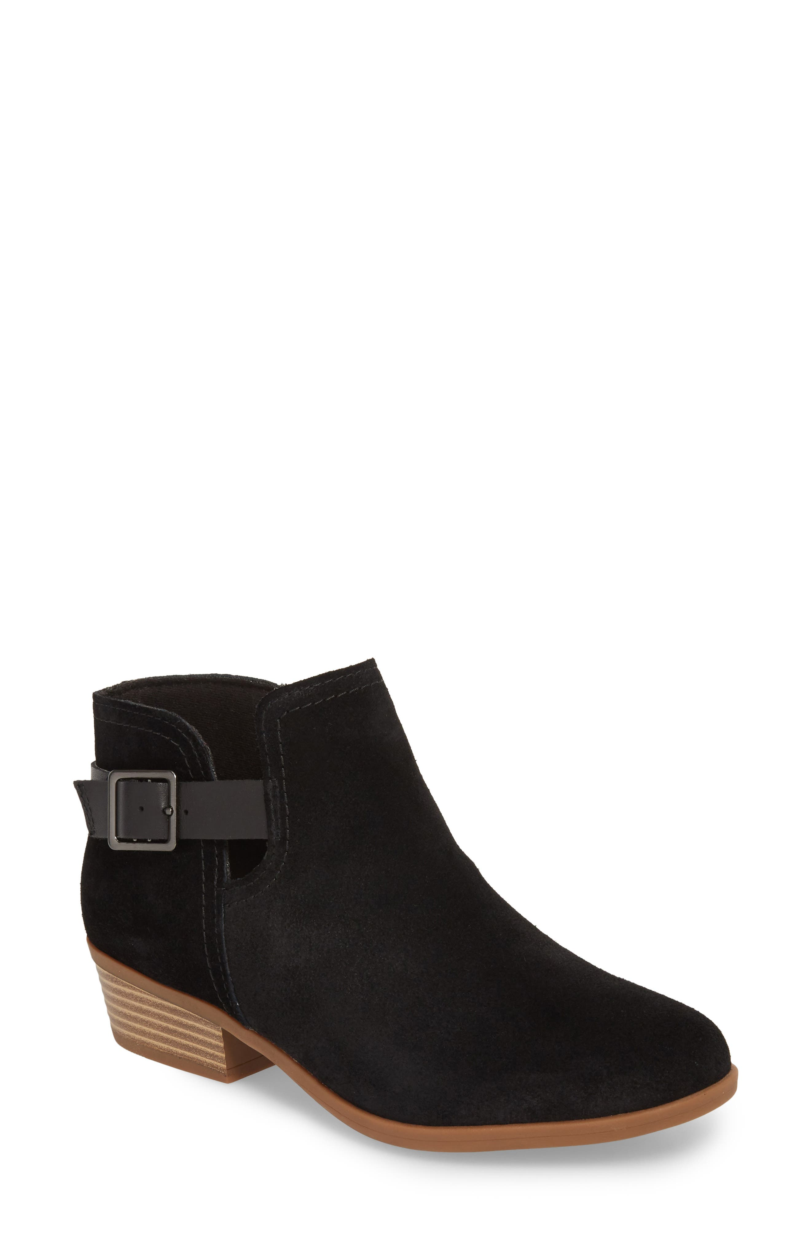 CLARKS<SUP>®</SUP>,                             Clark<sup>®</sup> Addiy Carisa Chelsea Boot,                             Main thumbnail 1, color,                             007