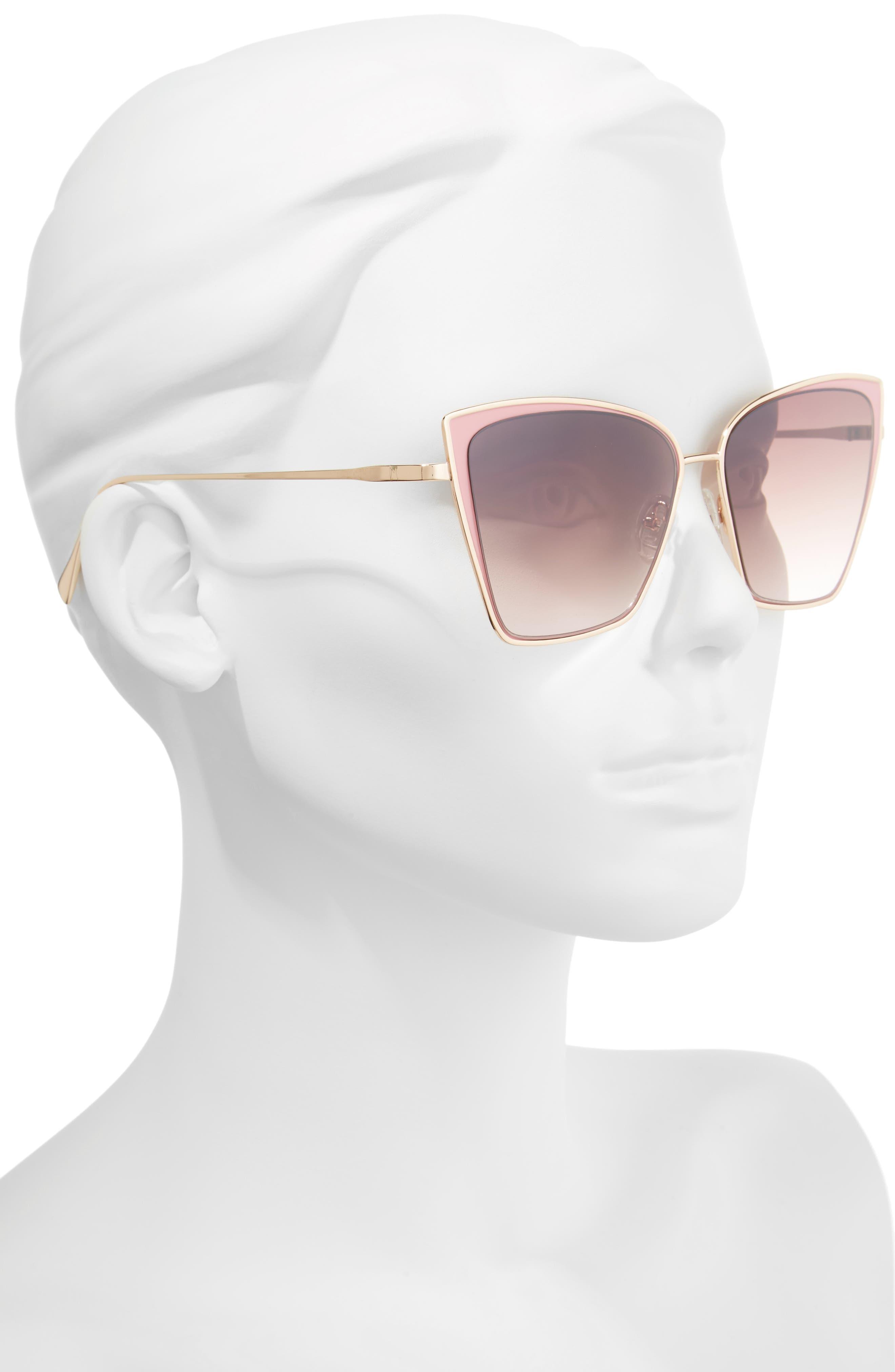Pinkaboo 58mm Sunglasses,                             Alternate thumbnail 2, color,                             650