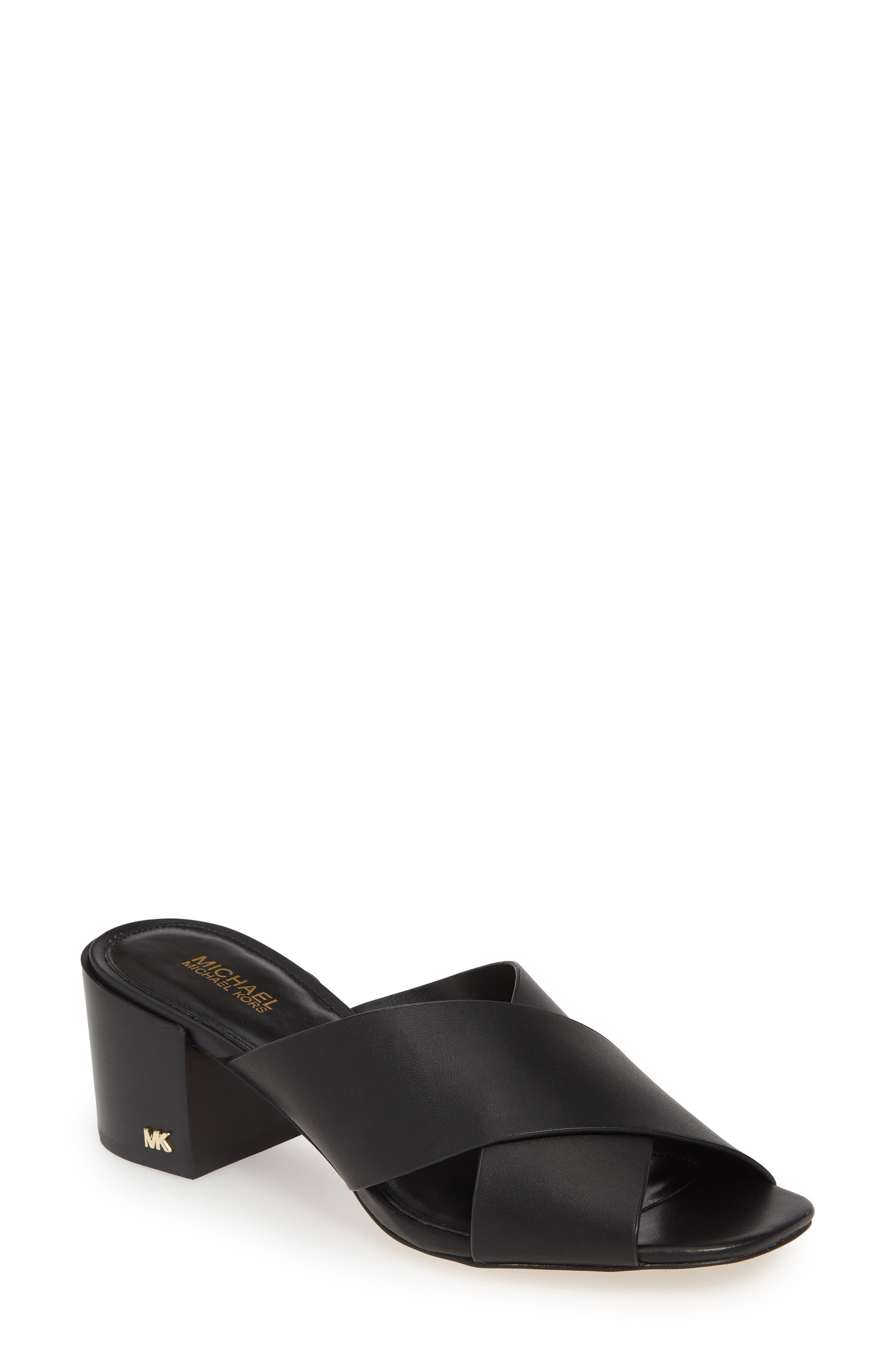 Michael Michael Kors Abbot Slide Sandal, Black