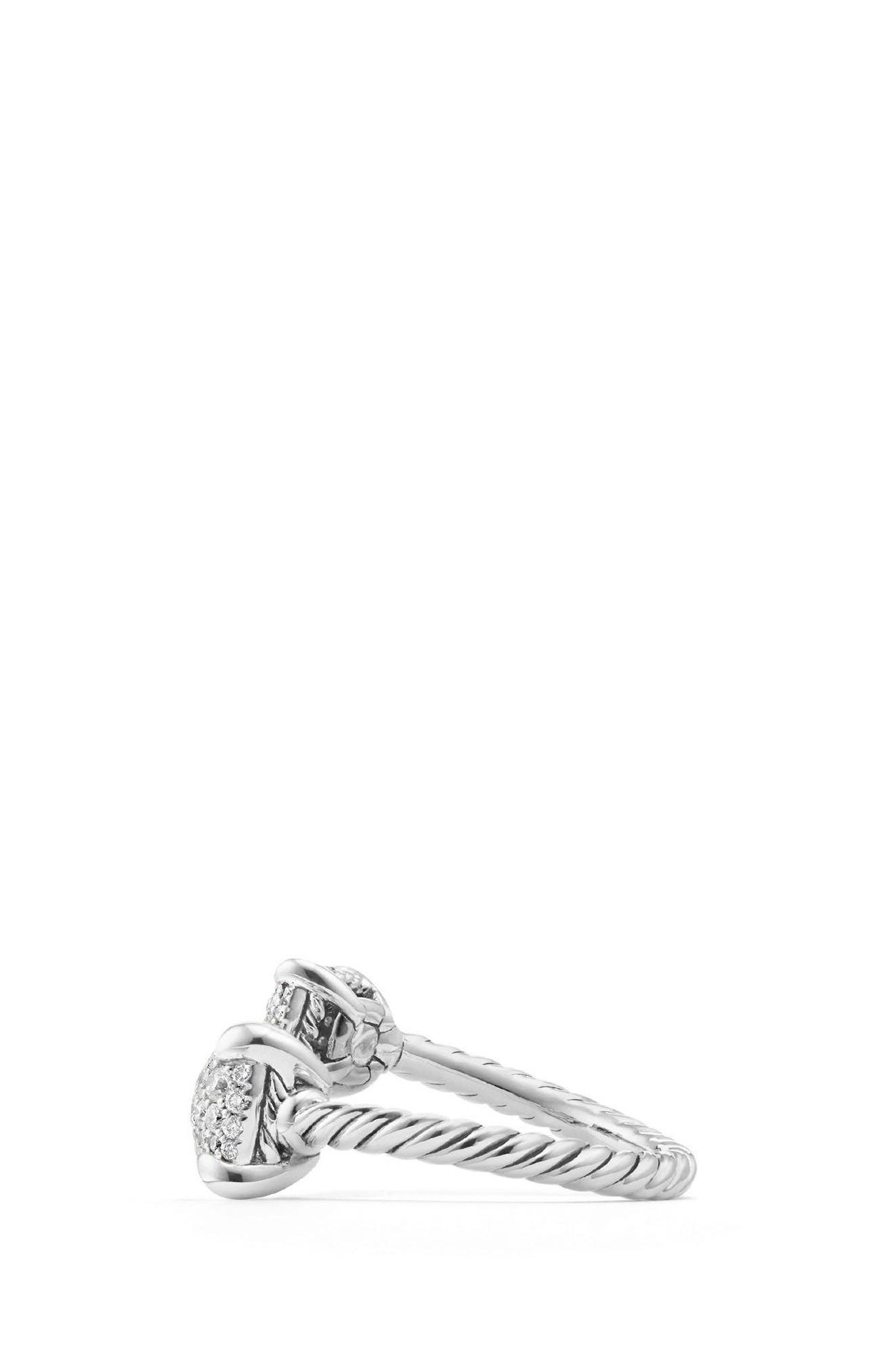 Châtelaine Bypass Ring with Diamonds,                             Alternate thumbnail 2, color,                             SILVER