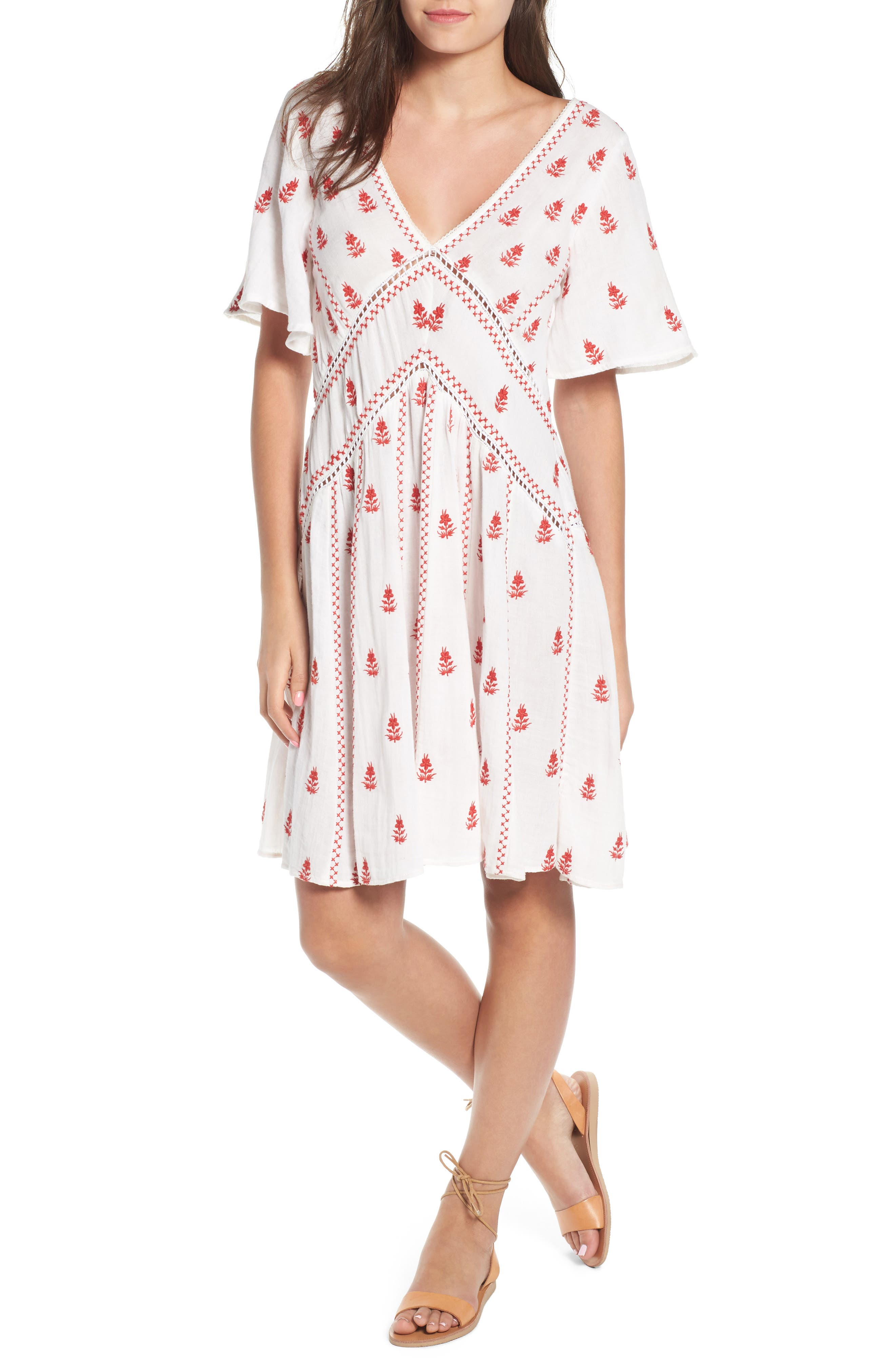 Ruby Embroidered Dress,                         Main,                         color,