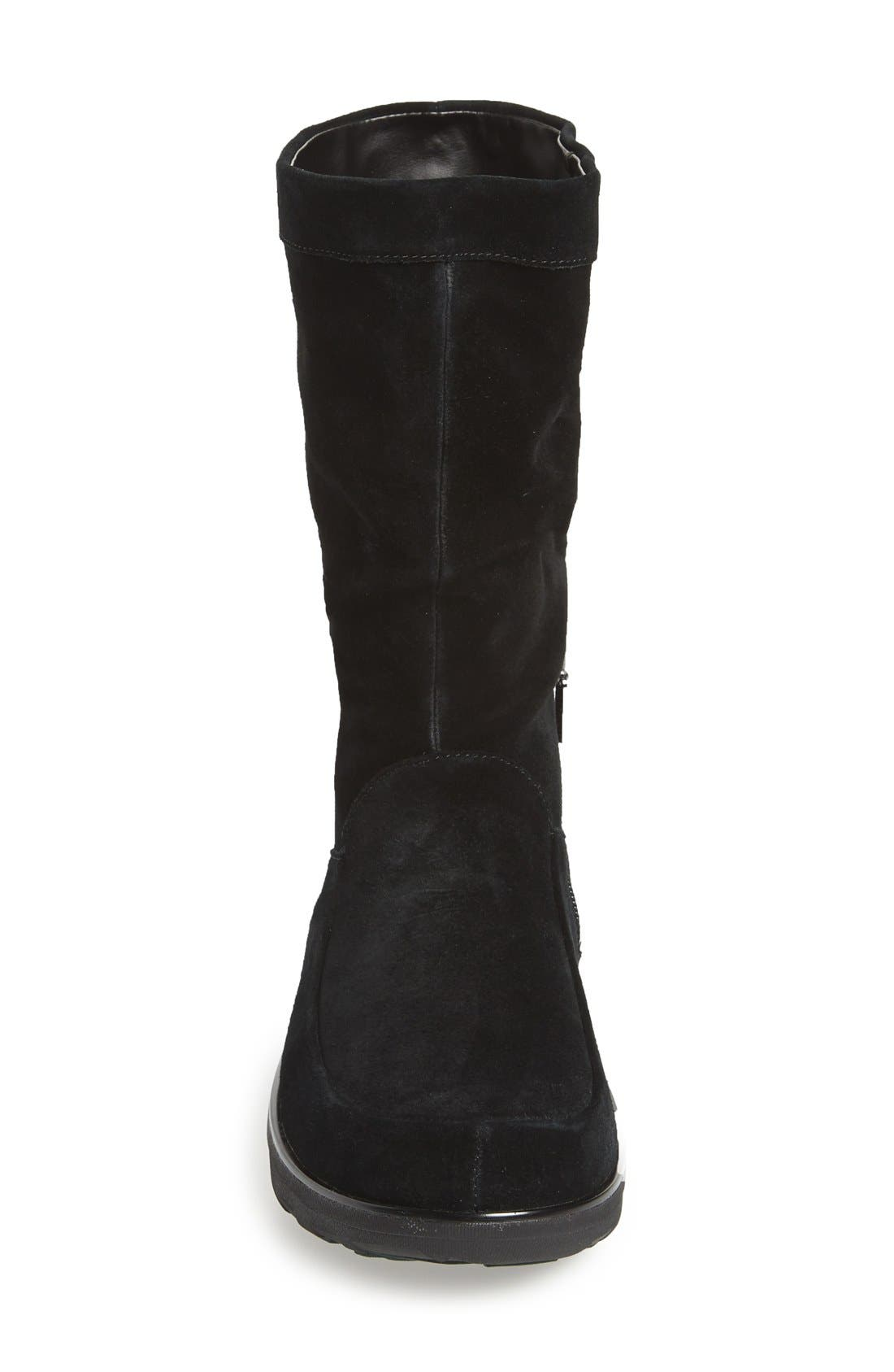 'Loaff' Slouchy Boot,                             Alternate thumbnail 4, color,                             001