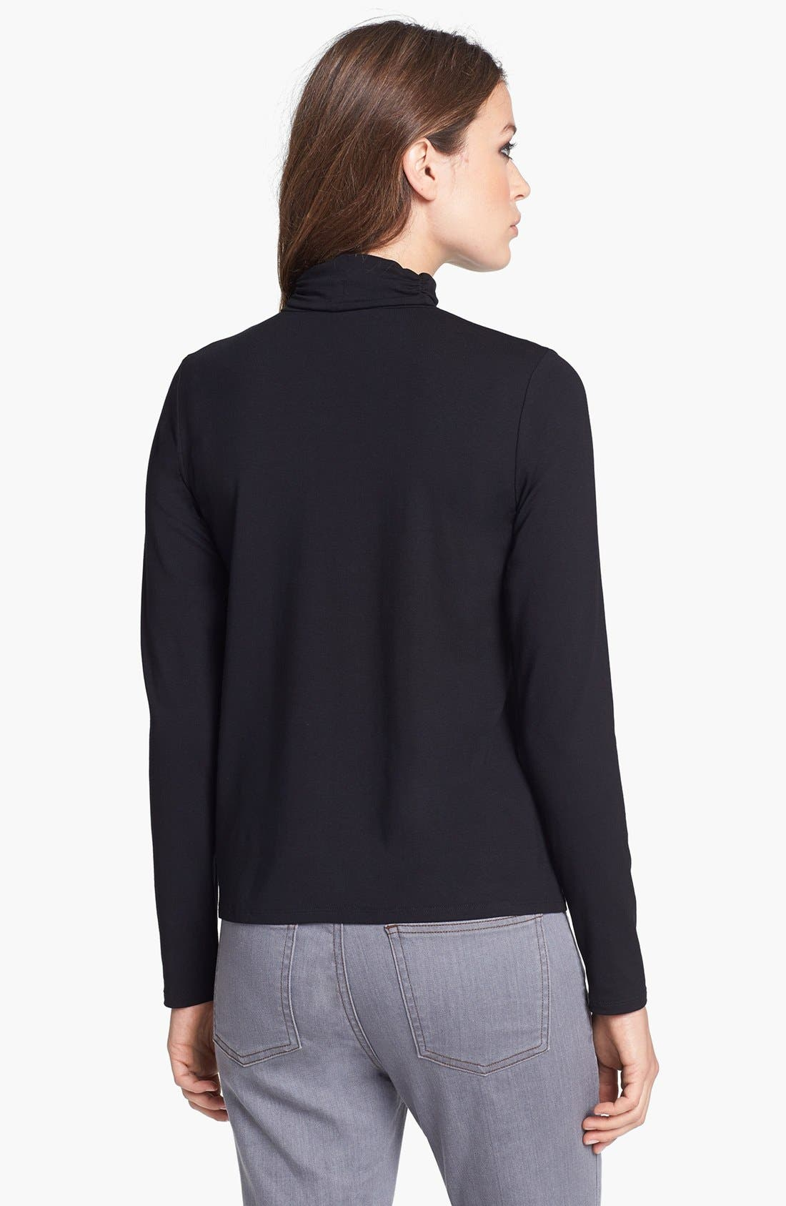 Scrunch Neck Top,                             Alternate thumbnail 7, color,                             001