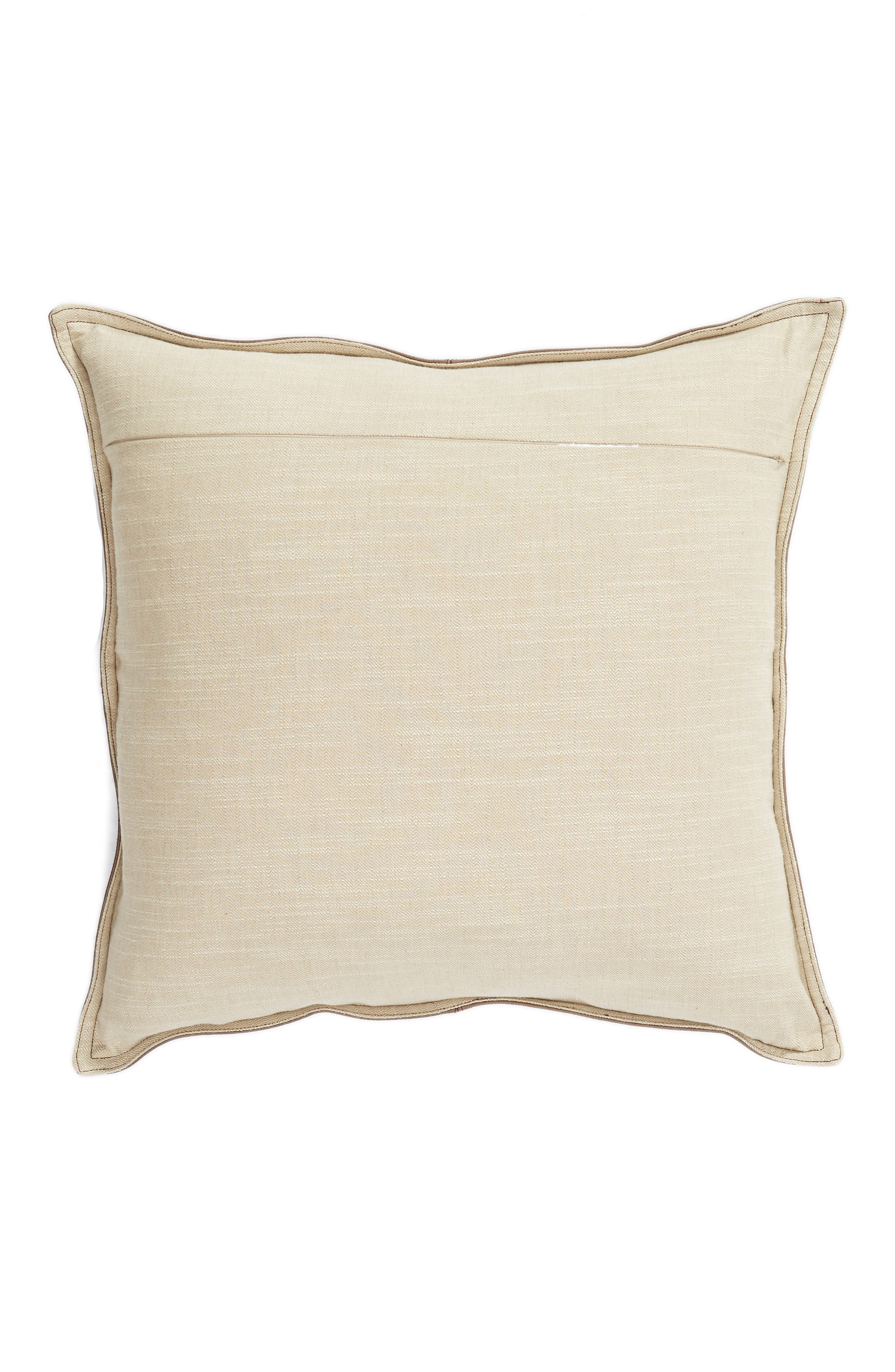 Parsons Leather Accent Pillow,                             Alternate thumbnail 2, color,                             LEATHER COCOA