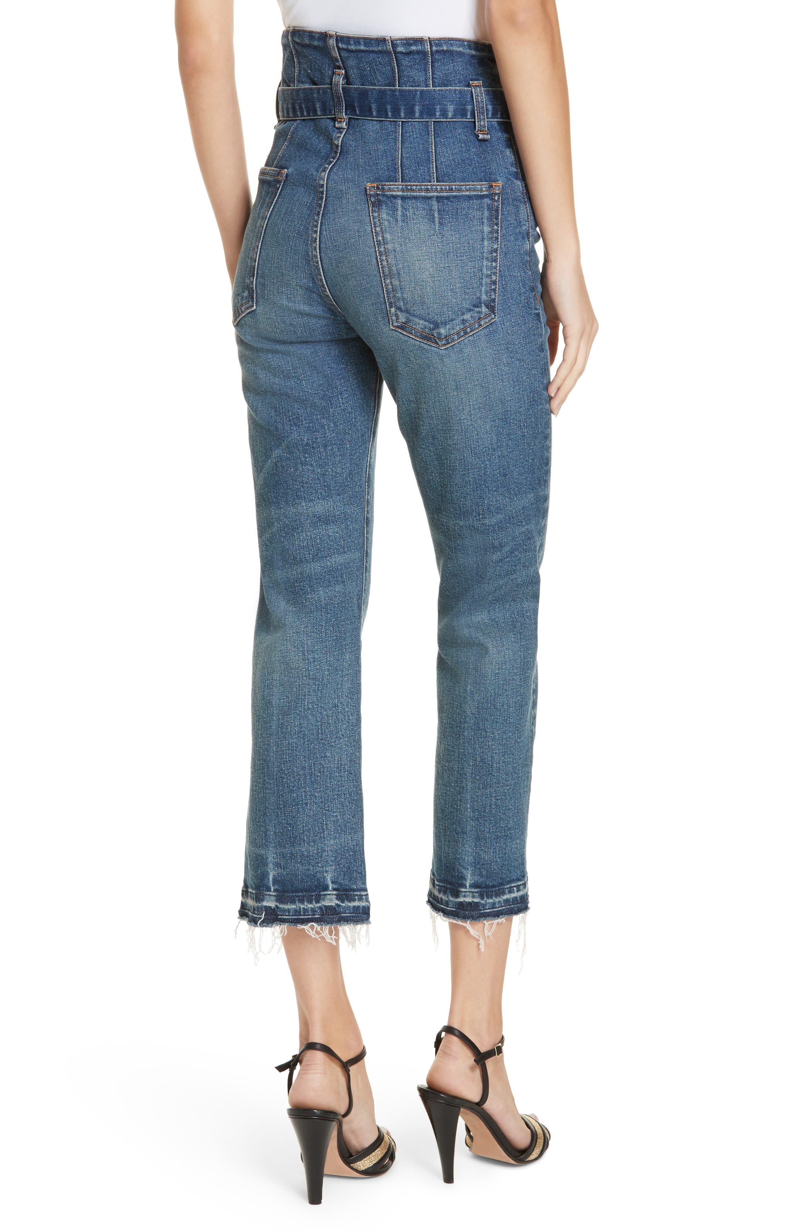 Marlene Corset Waist Straight Leg Jeans,                             Alternate thumbnail 2, color,                             TERRAIN
