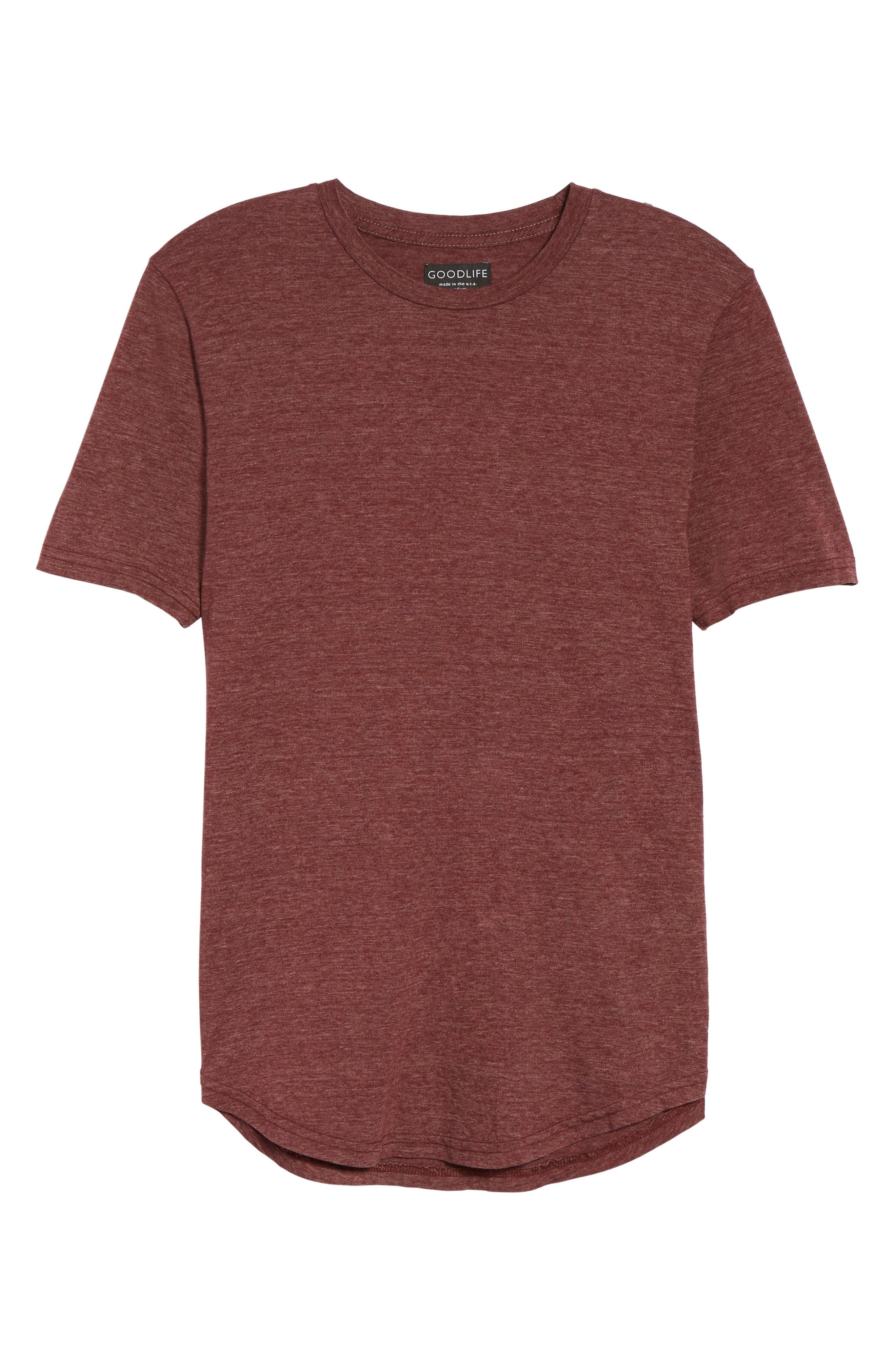 Scallop Triblend Crewneck T-Shirt,                             Alternate thumbnail 135, color,