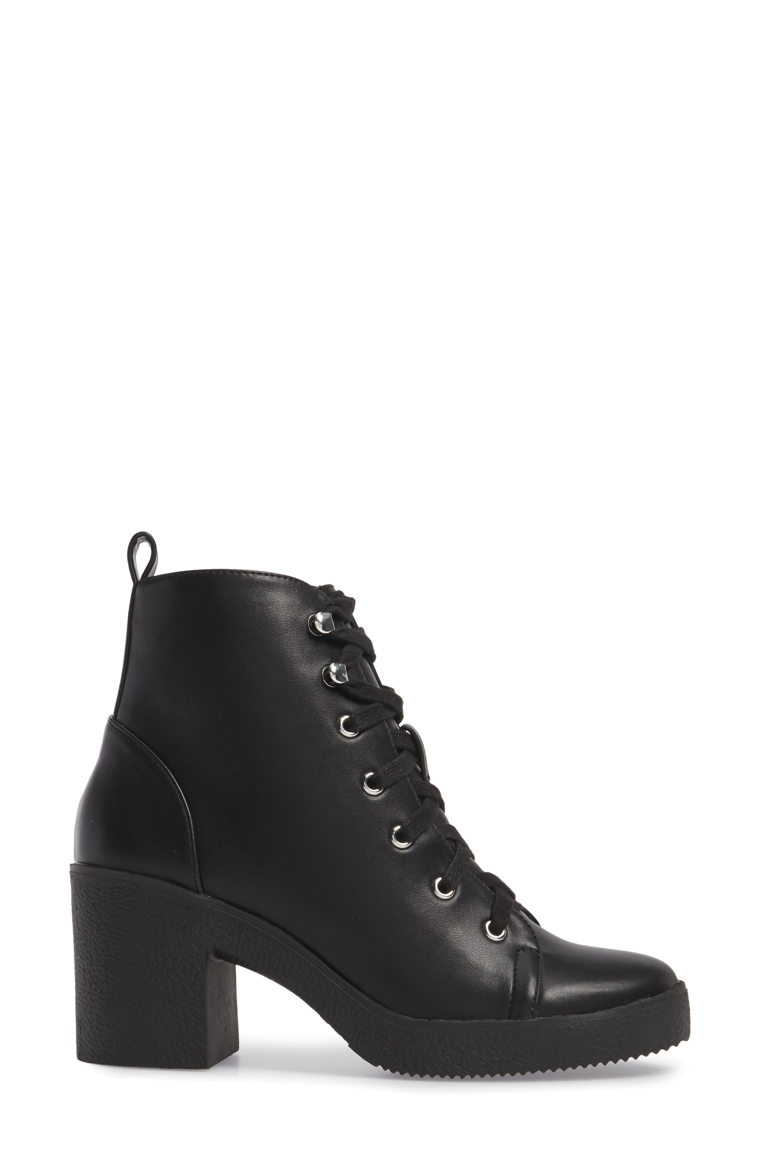 Abby Lace-Up Bootie,                             Alternate thumbnail 3, color,                             002