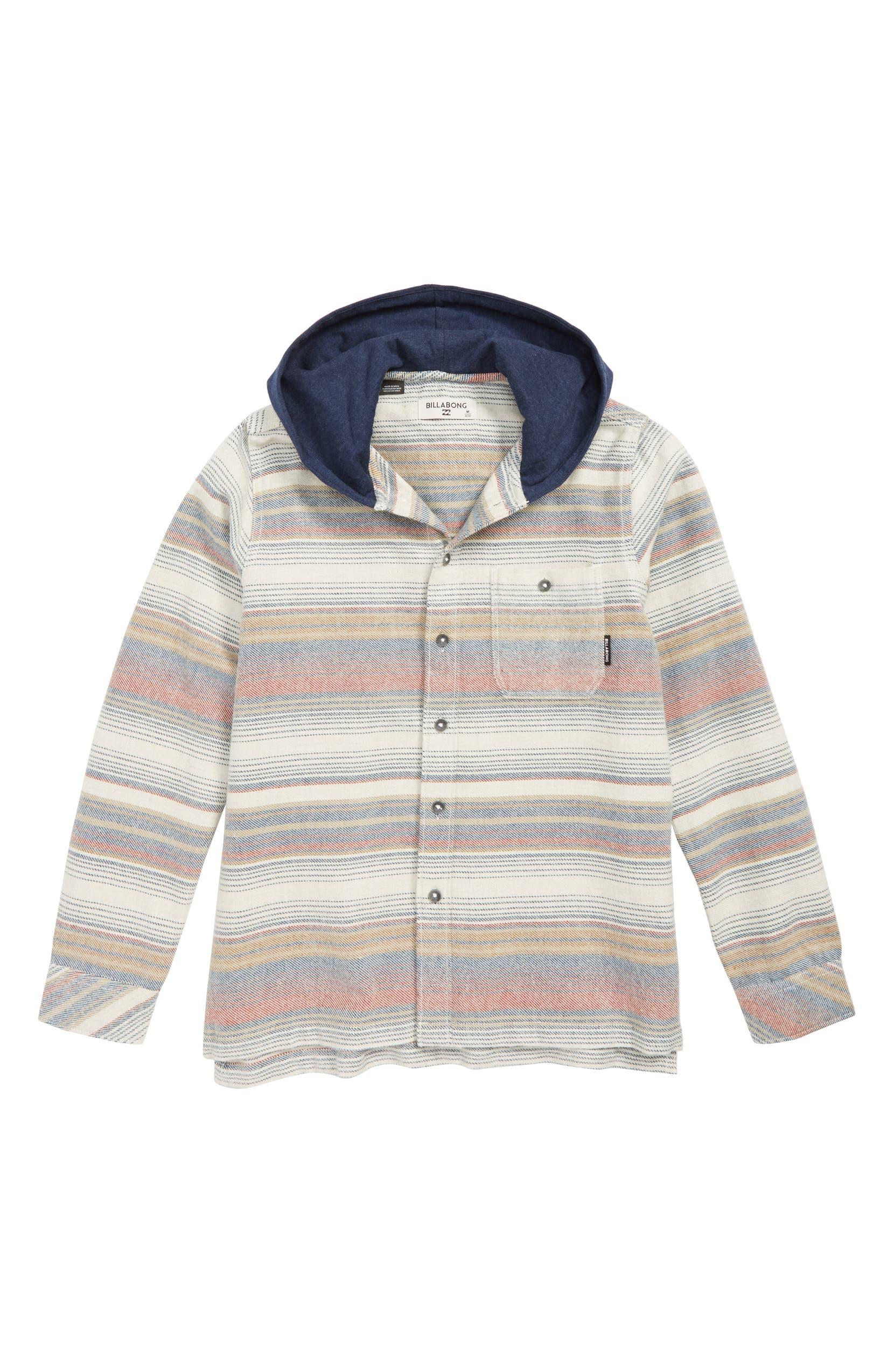 003c9e11986c82 Billabong Baja Hooded Flannel Shirt (Big Boys)