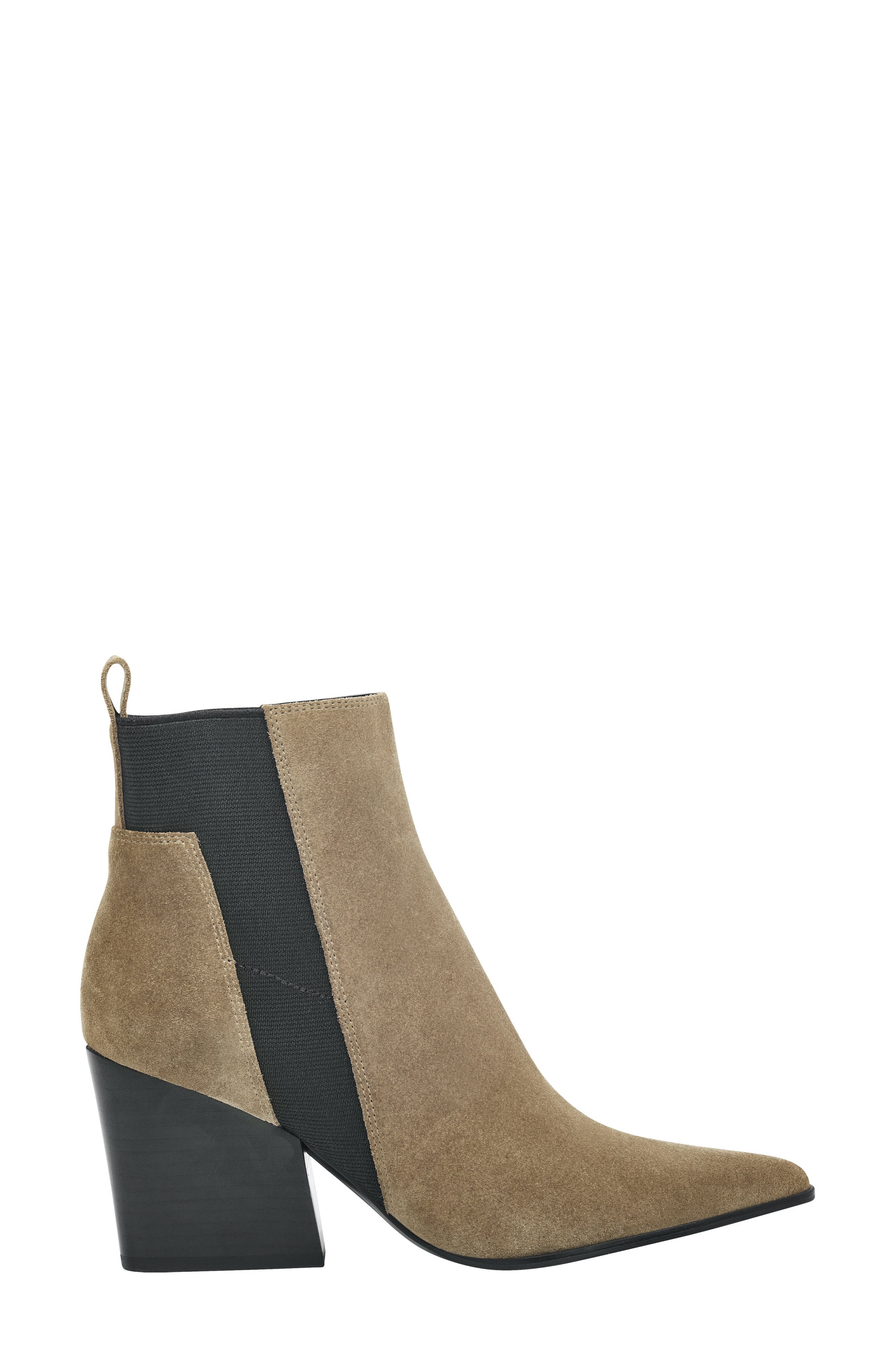 Pointy Toe Chelsea Bootie,                             Alternate thumbnail 3, color,                             TAUPE