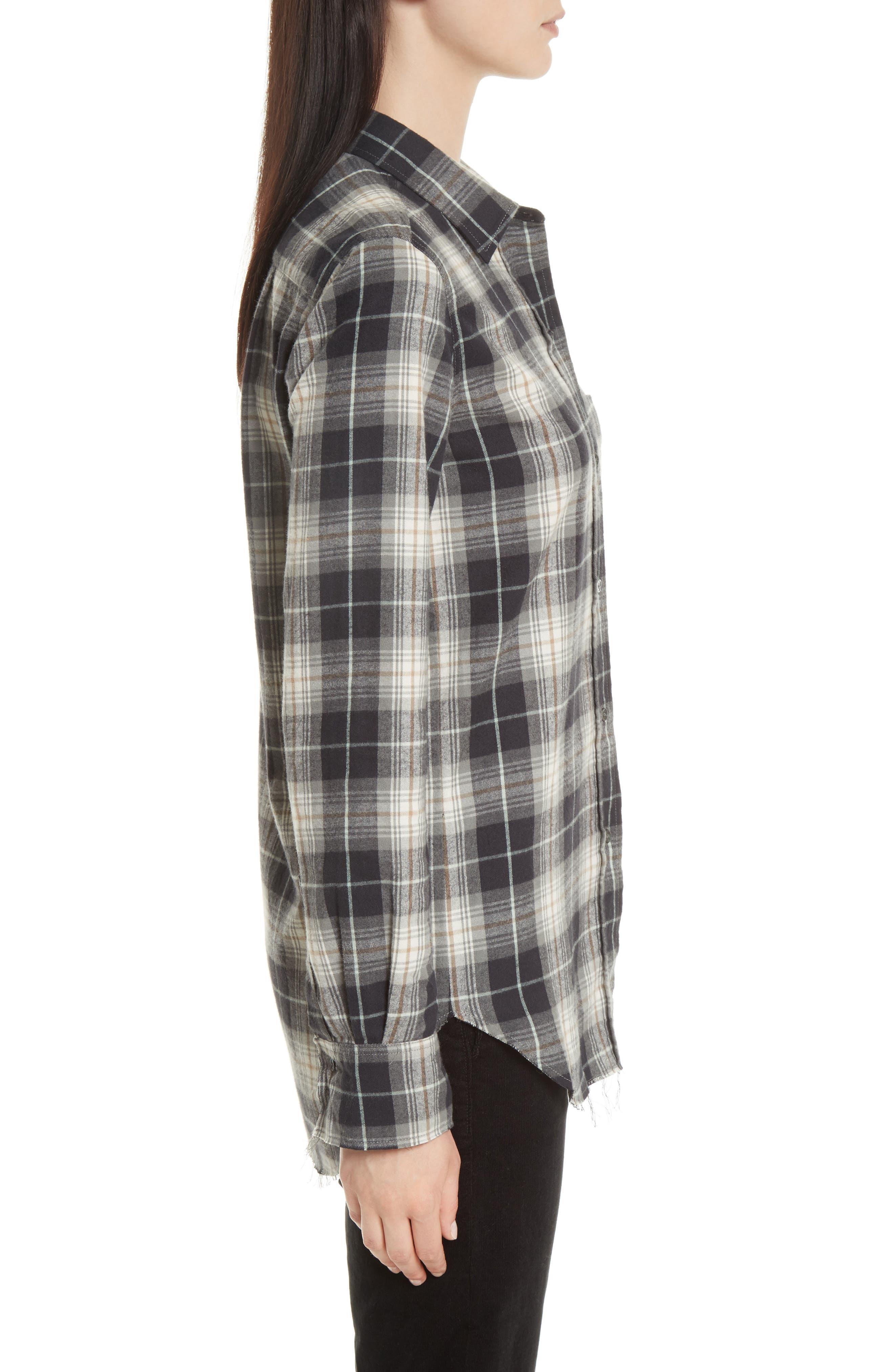 Tartan Plaid Oversize Shirt,                             Alternate thumbnail 3, color,