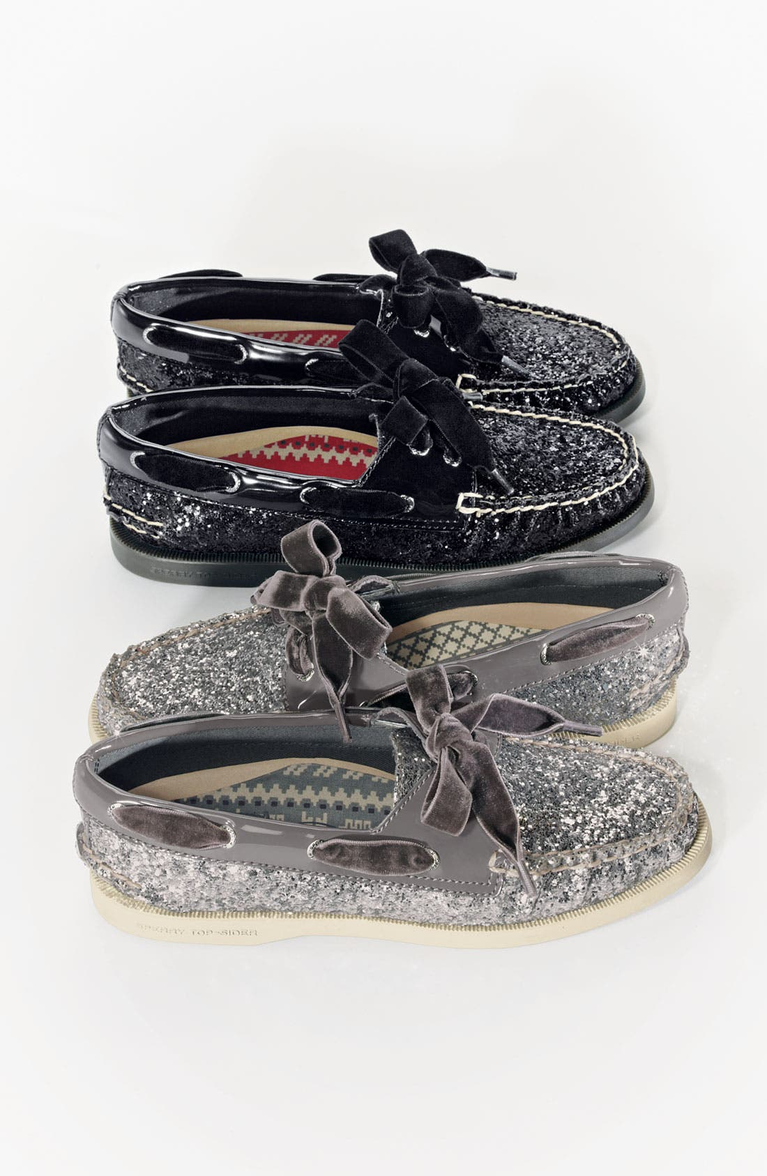 SPERRY,                             Top-Sider<sup>®</sup> 'Authentic Original Glitter' Boat Shoe,                             Alternate thumbnail 5, color,                             005