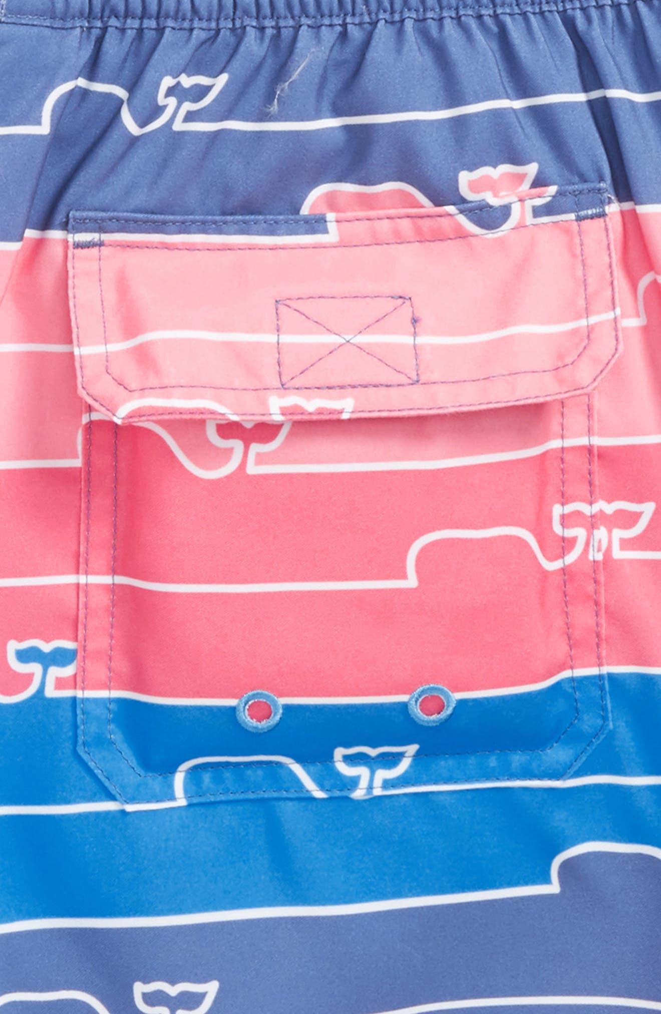 Chappy Whale Line Swim Trunks,                             Alternate thumbnail 3, color,                             461
