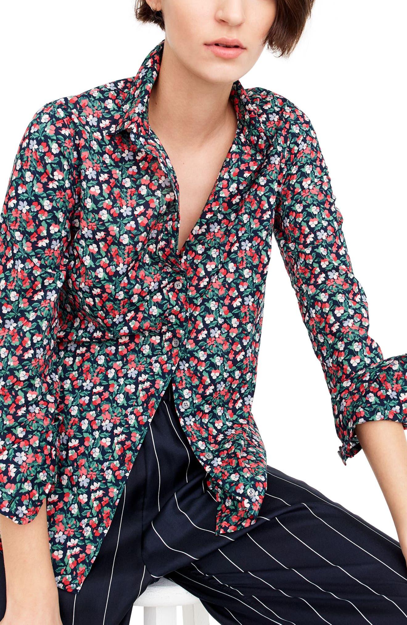 Sarah Liberty Perfect Shirt,                             Main thumbnail 1, color,                             400